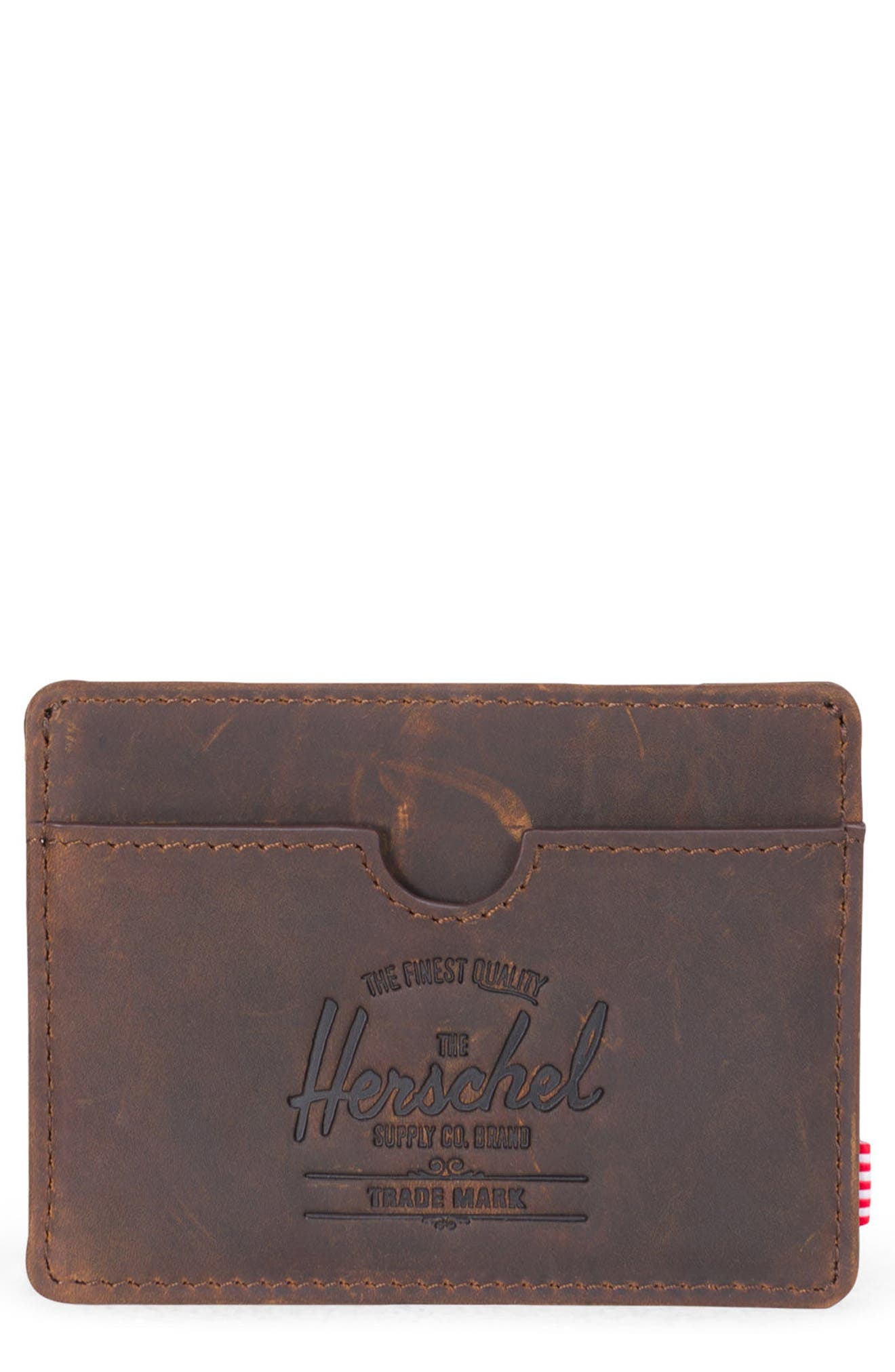 Charlie Leather Card Case,                             Main thumbnail 3, color,