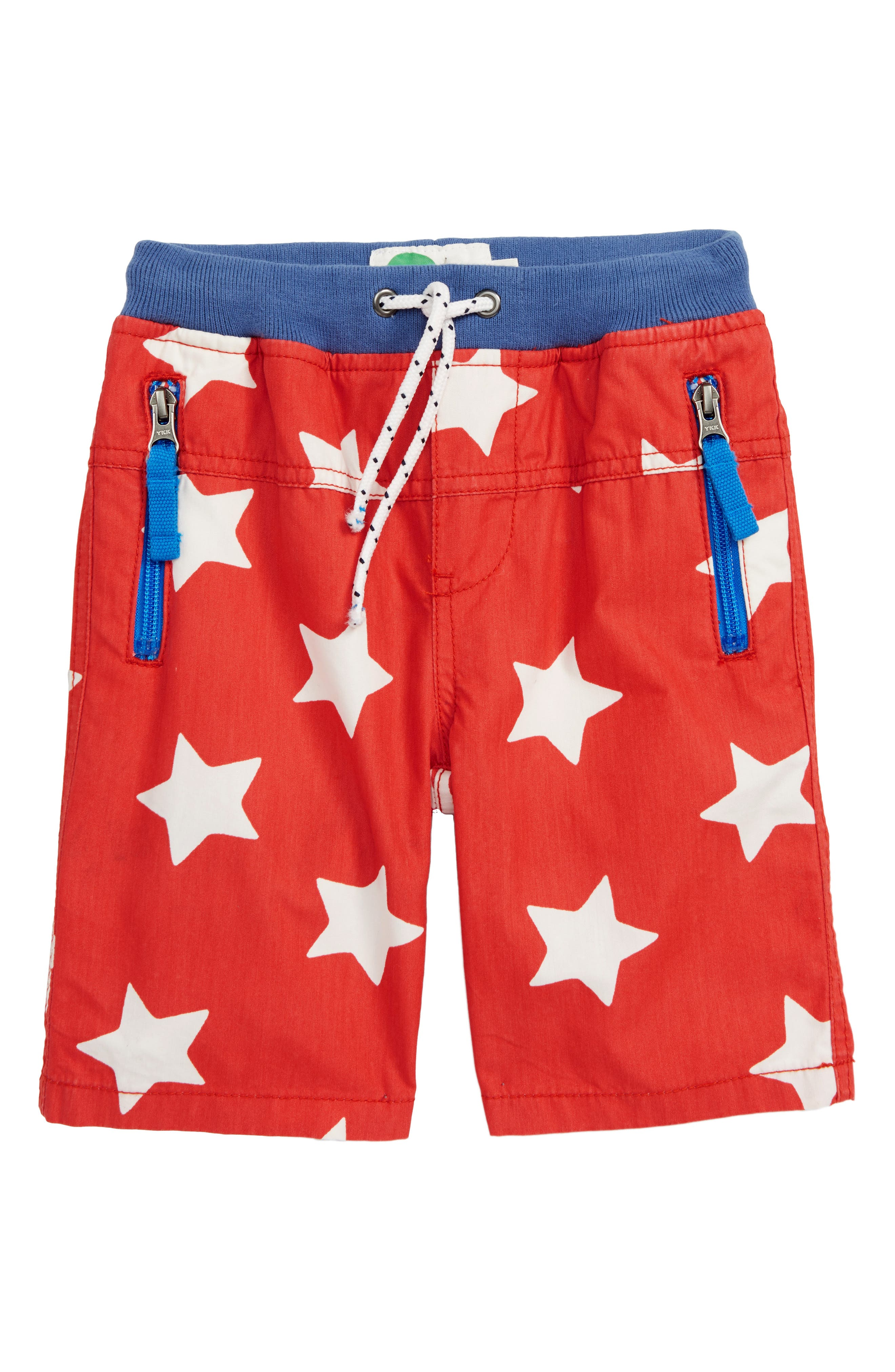 Star Adventure Shorts, Main, color, BEAM RED/ ECRU STAR