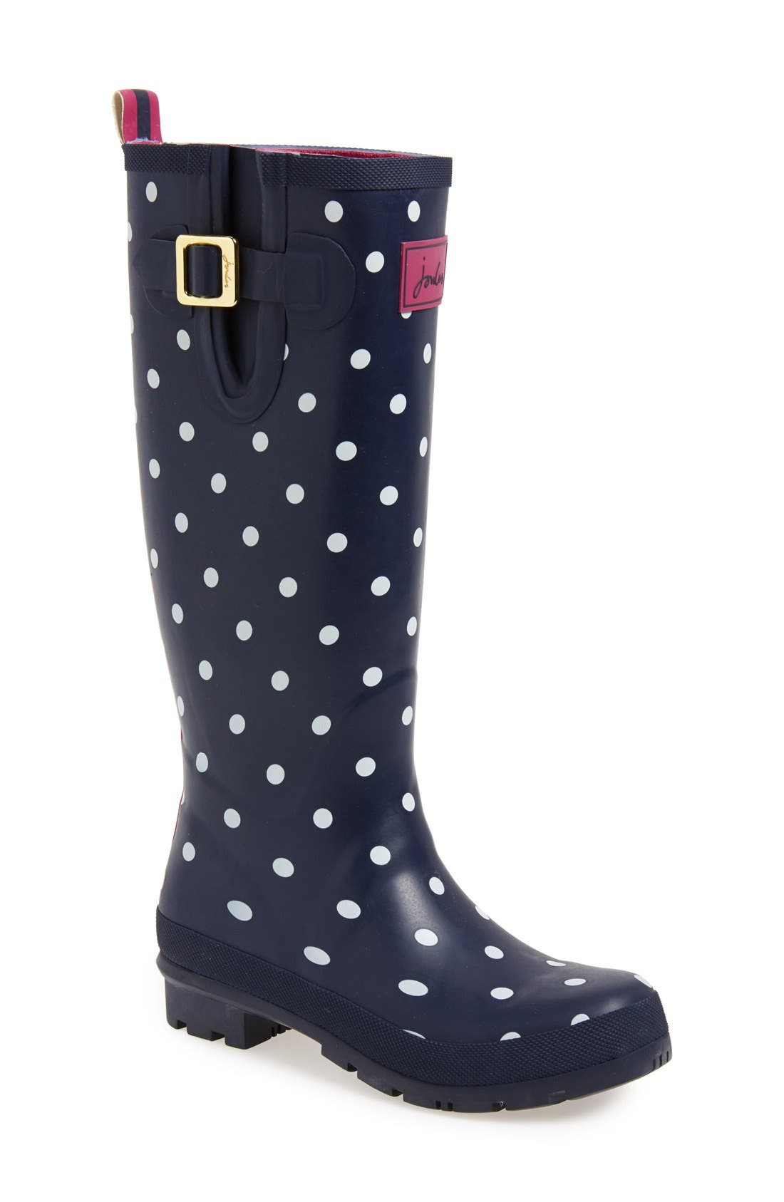 'Welly' Print Rain Boot,                             Main thumbnail 37, color,