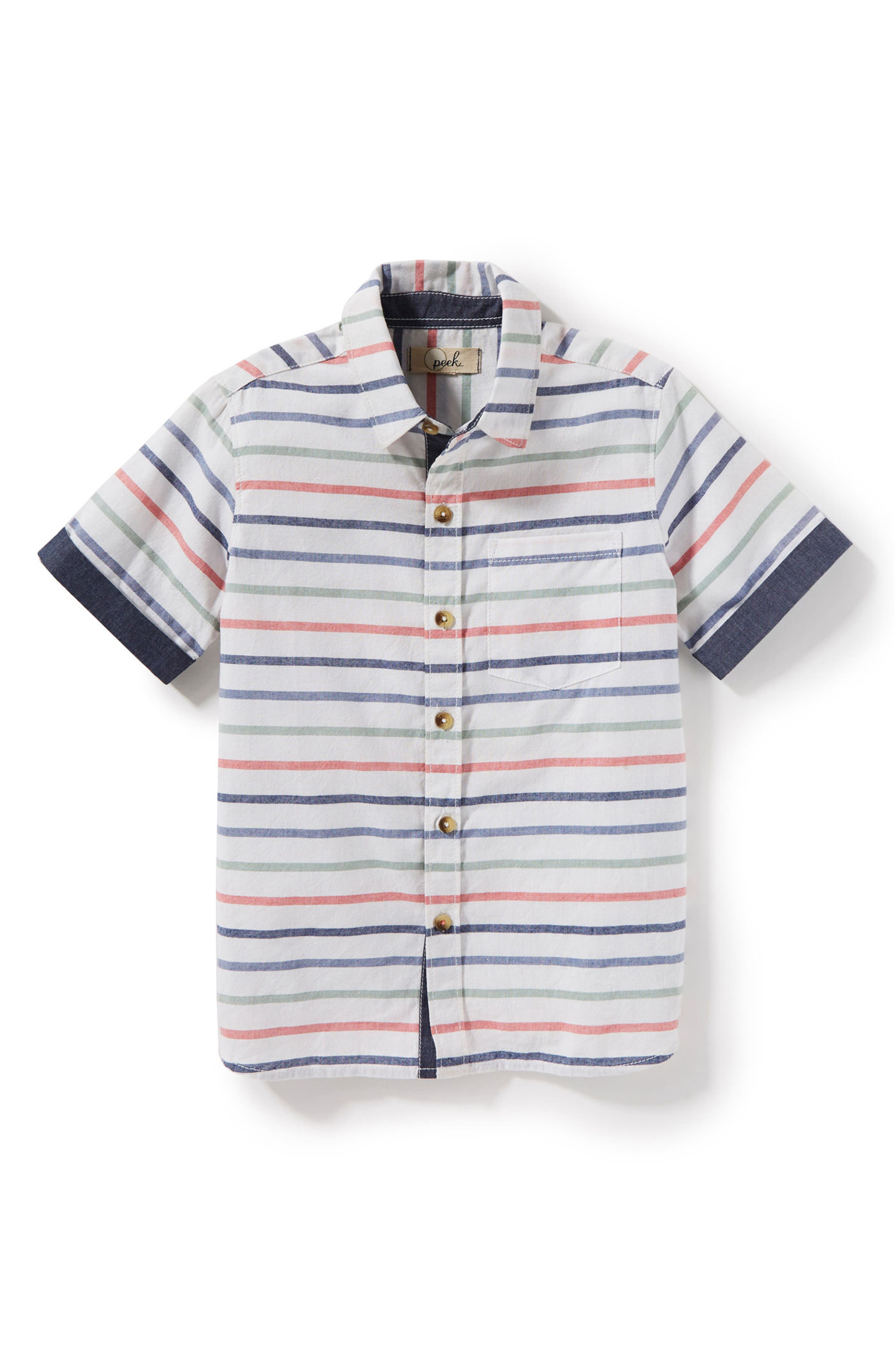 Hampton Stripe Woven Shirt,                             Main thumbnail 1, color,