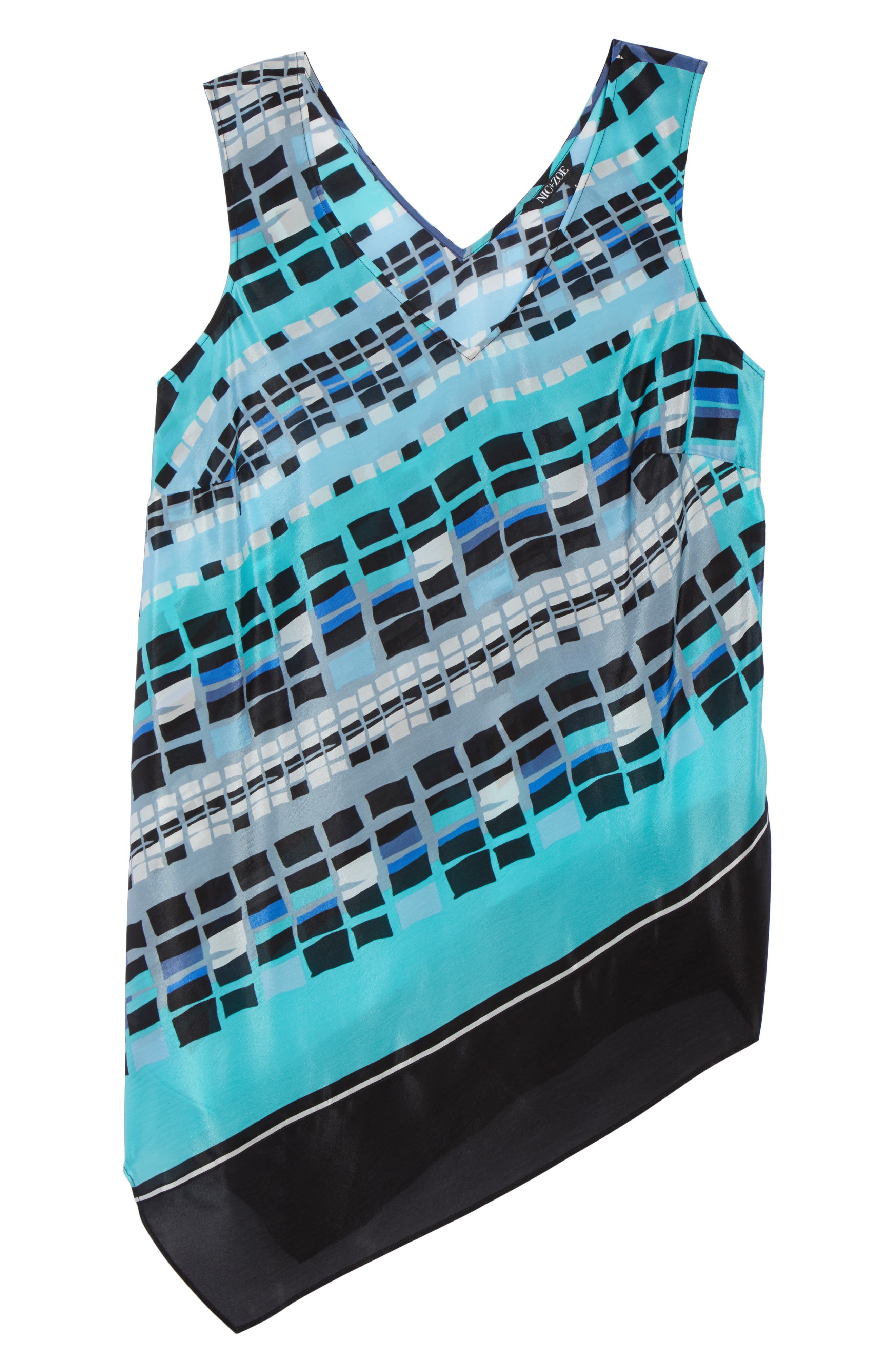 From Top Silk Blend Tank,                             Alternate thumbnail 7, color,                             MULTI