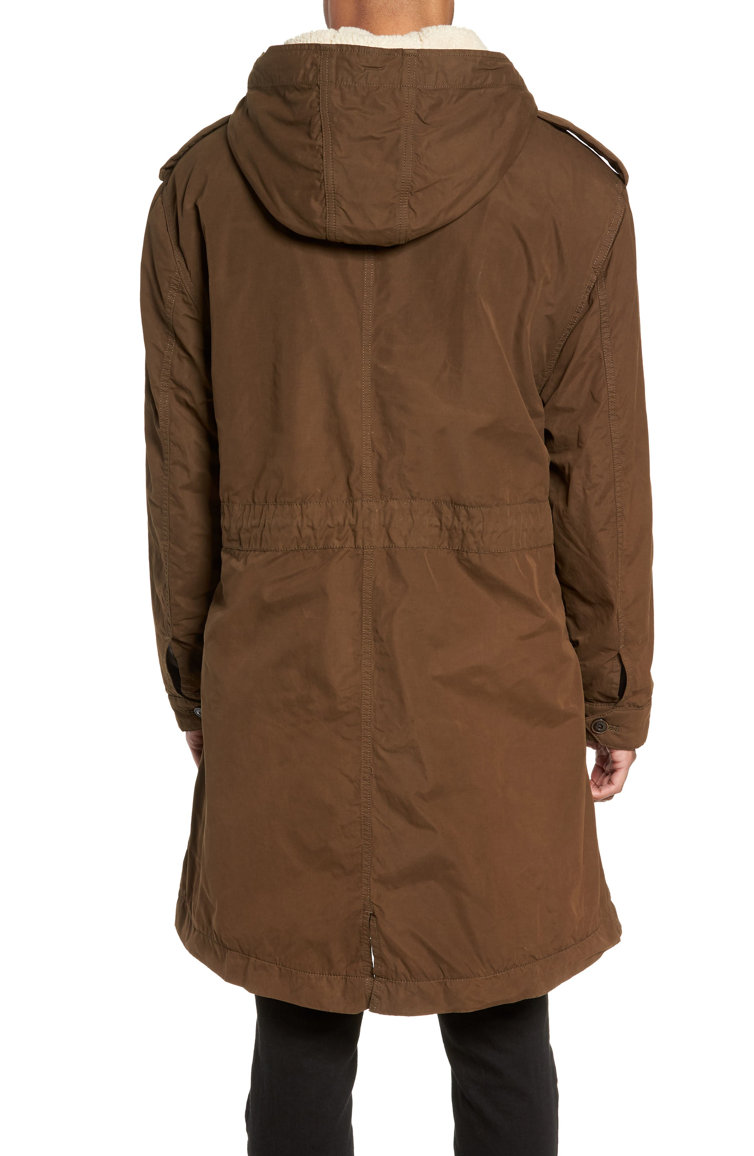 Removable Faux Shearling Anorak,                             Alternate thumbnail 2, color,                             UMBER