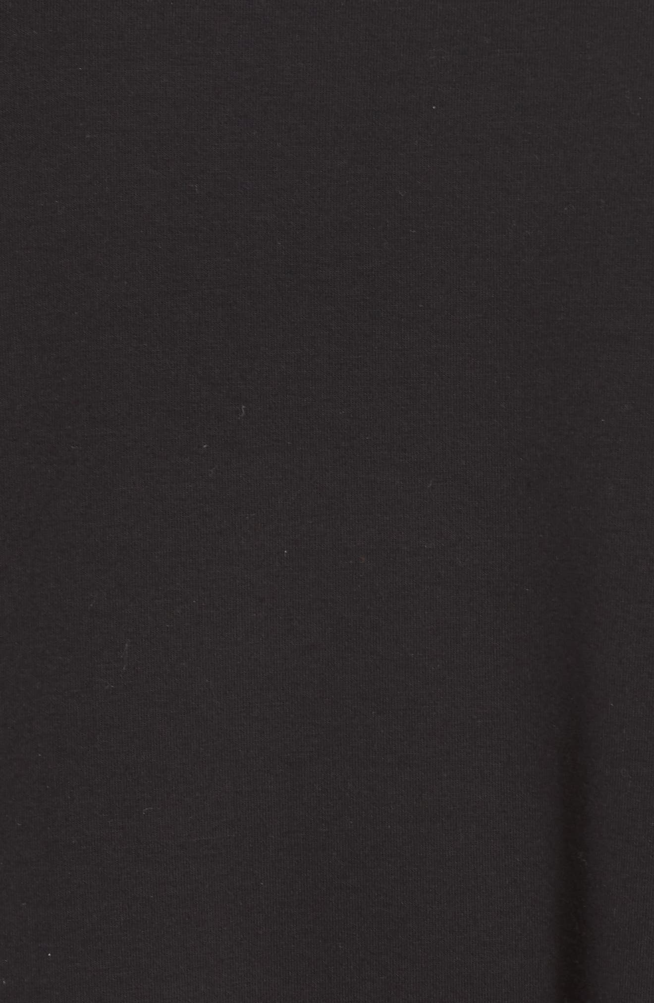 Knit Jersey Dress,                             Alternate thumbnail 5, color,                             001