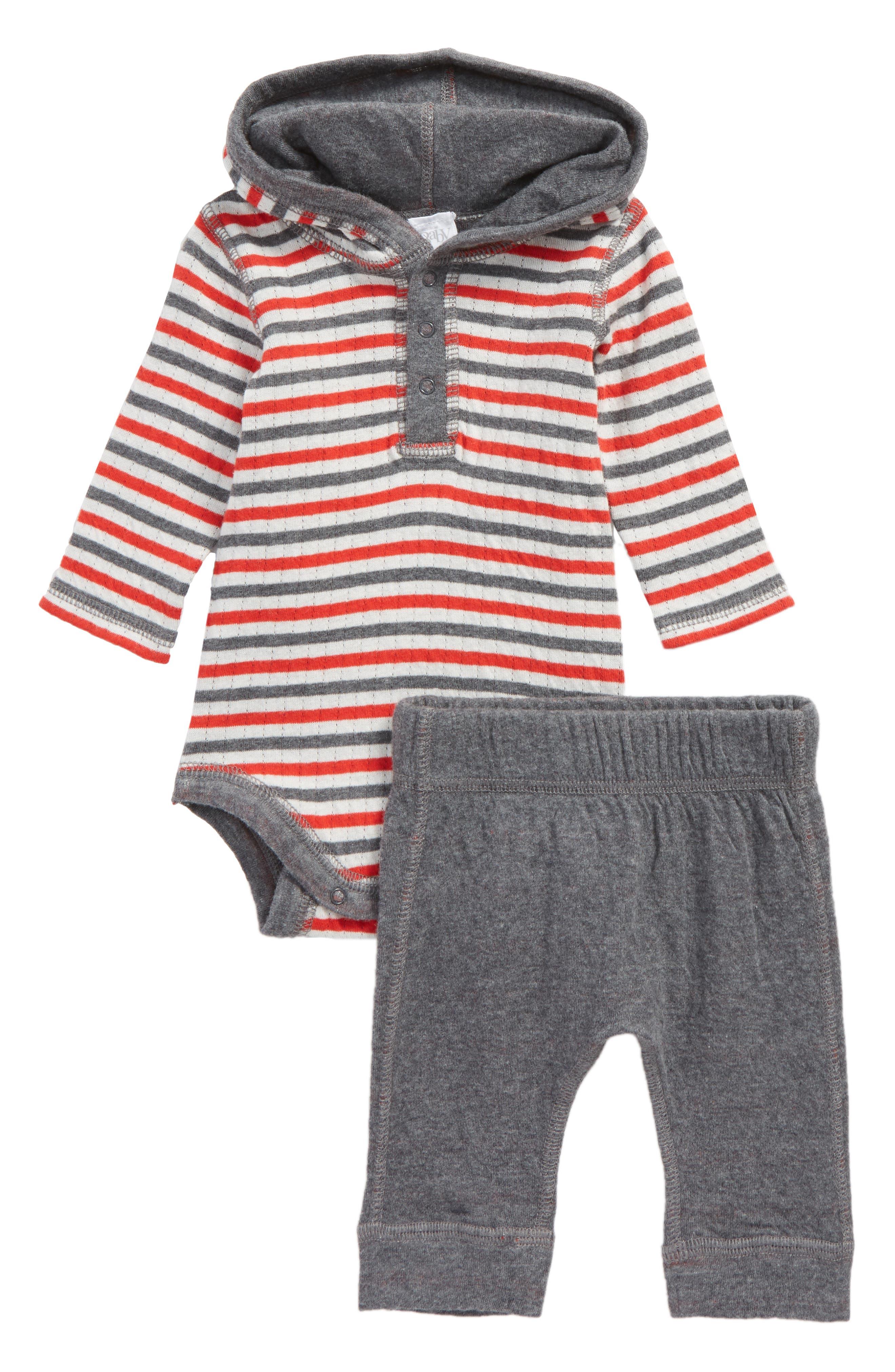 Reversible Hooded Bodysuit & Leggings Set,                             Main thumbnail 1, color,                             030