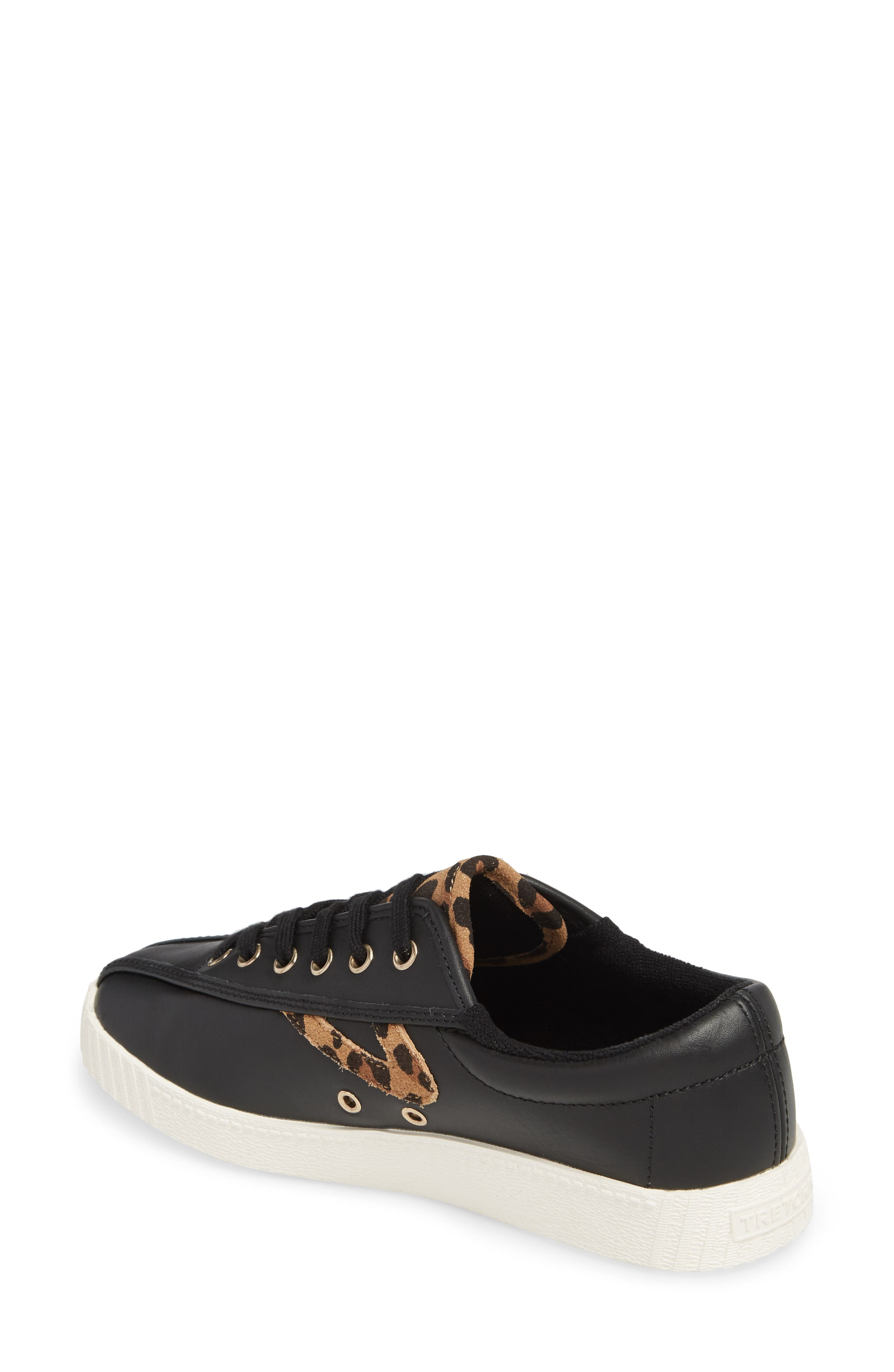 Patterned Sneaker,                             Alternate thumbnail 2, color,                             BLACK/ TAN/ BLACK LEATHER