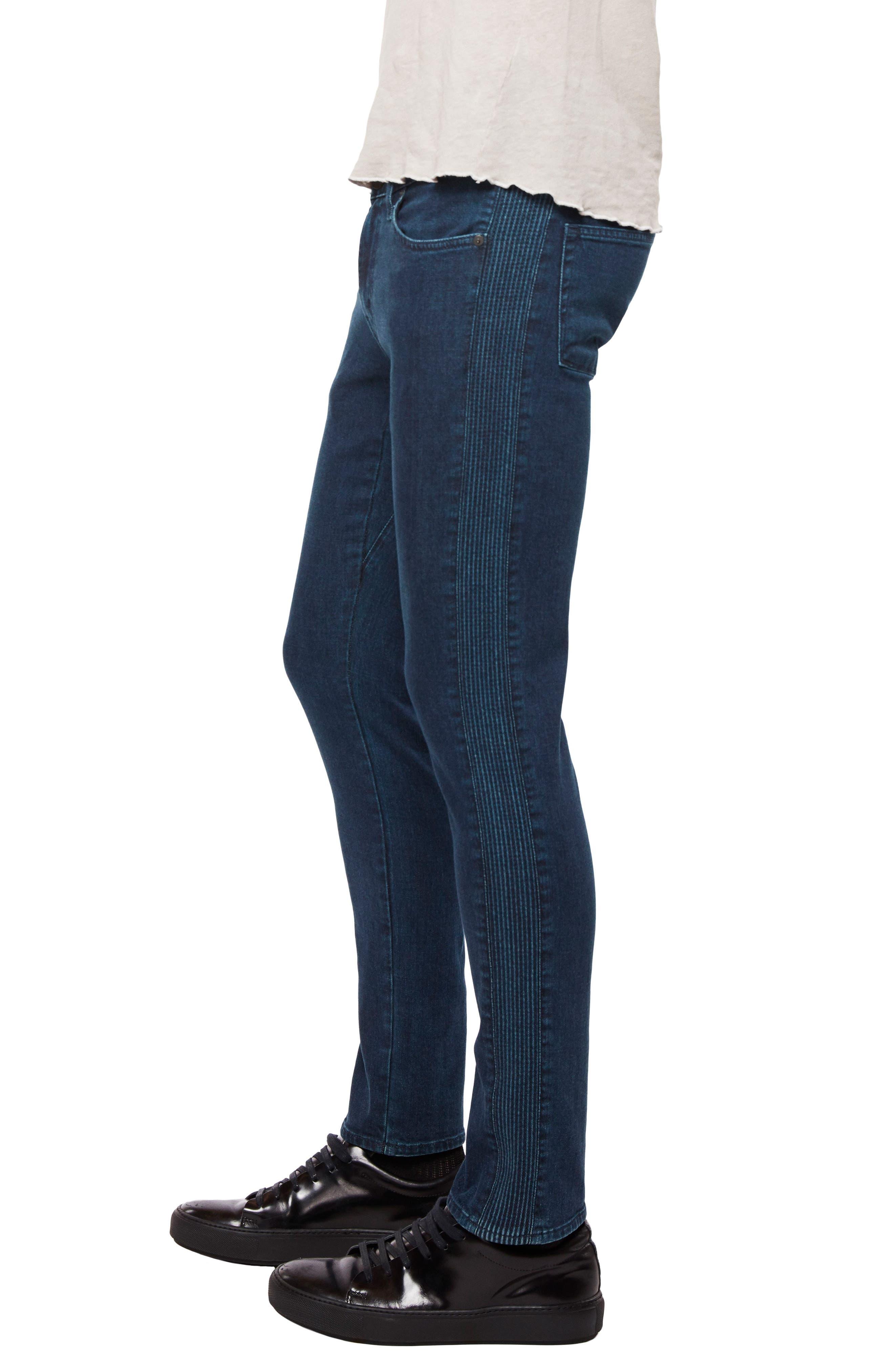 Moto Skinny Fit Jeans,                             Alternate thumbnail 3, color,                             403