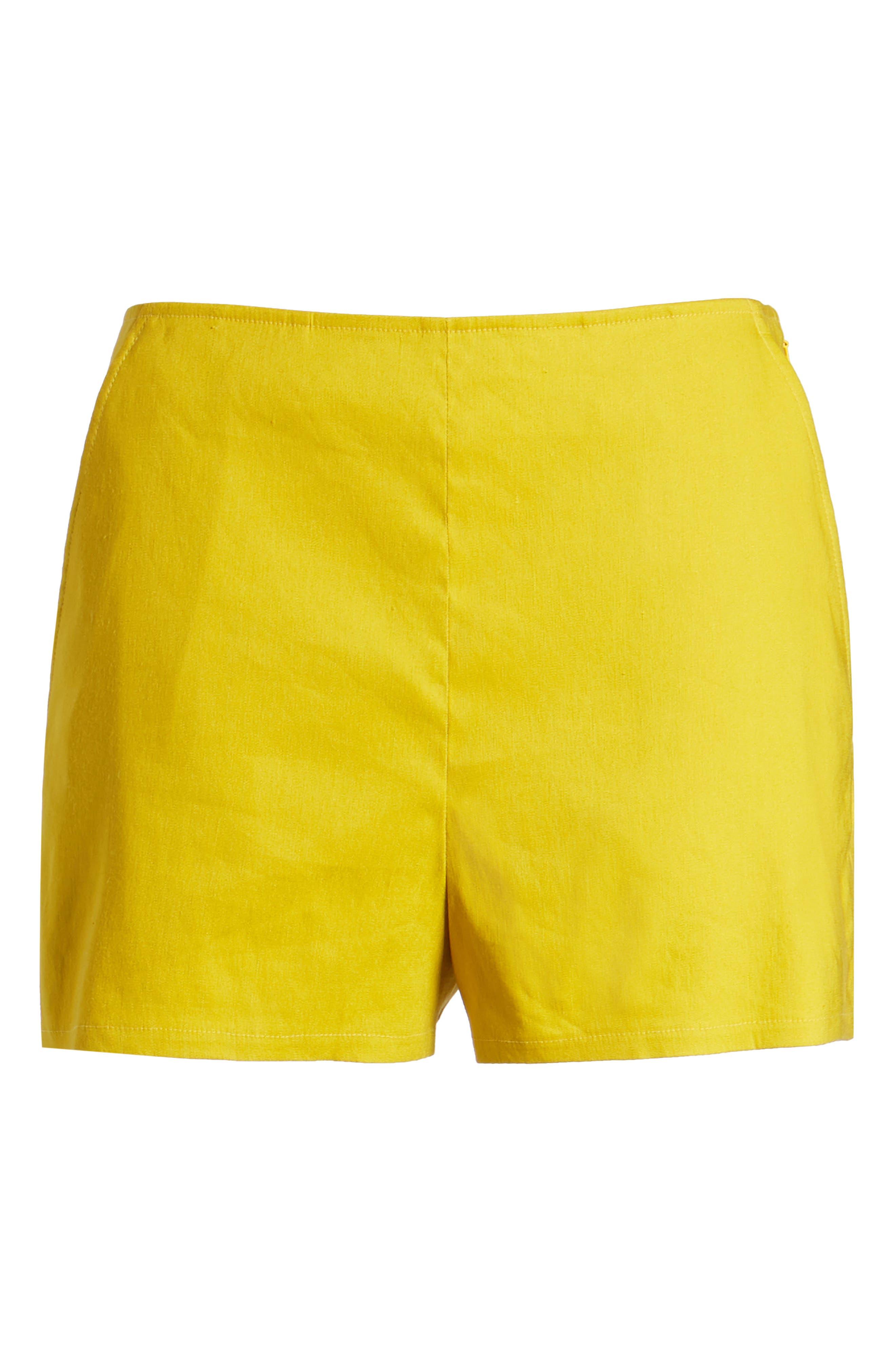 High Waist Linen Blend Shorts,                             Alternate thumbnail 29, color,