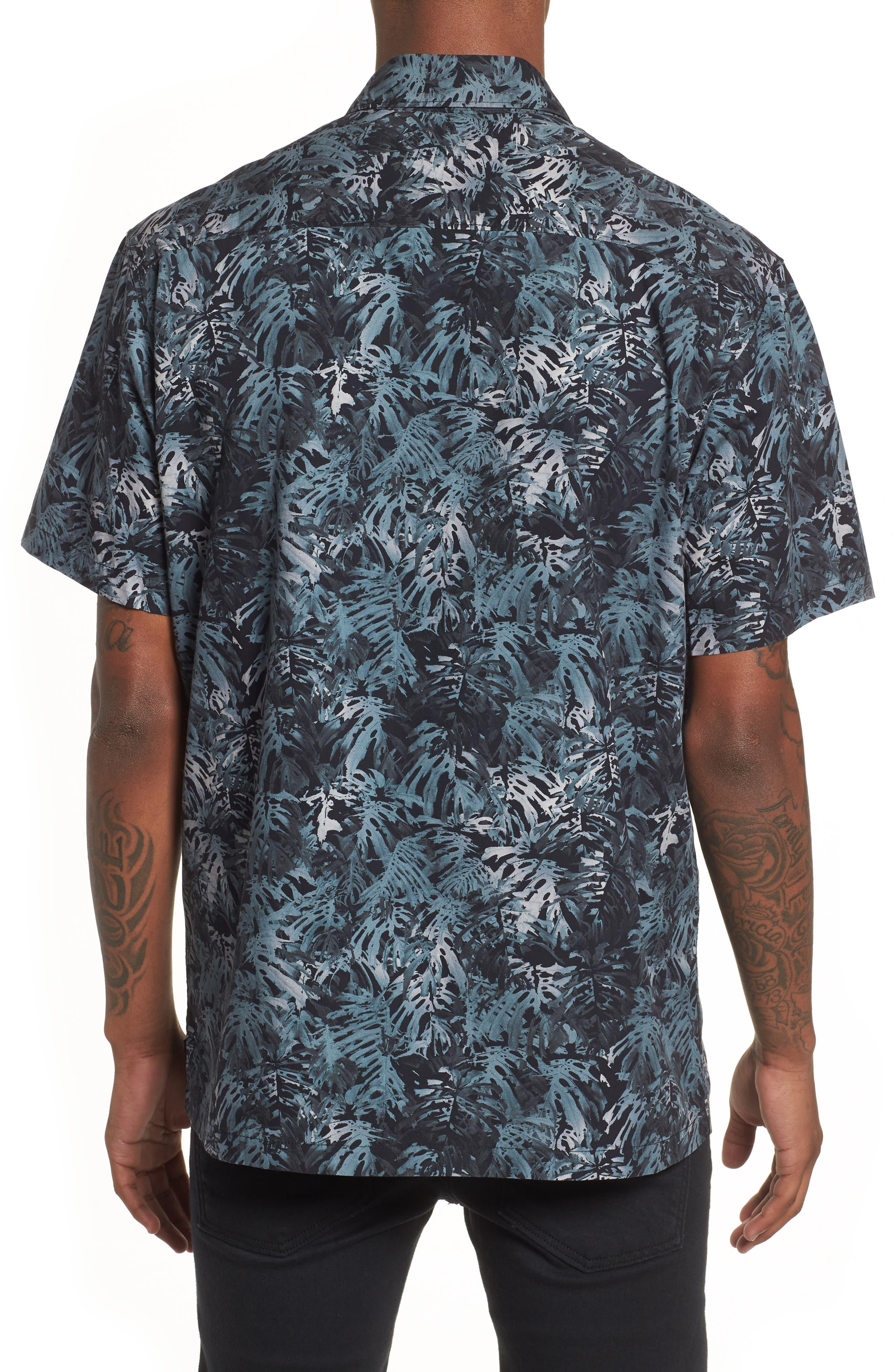 Villa Palms Short Sleeve Woven Shirt,                             Alternate thumbnail 2, color,                             991