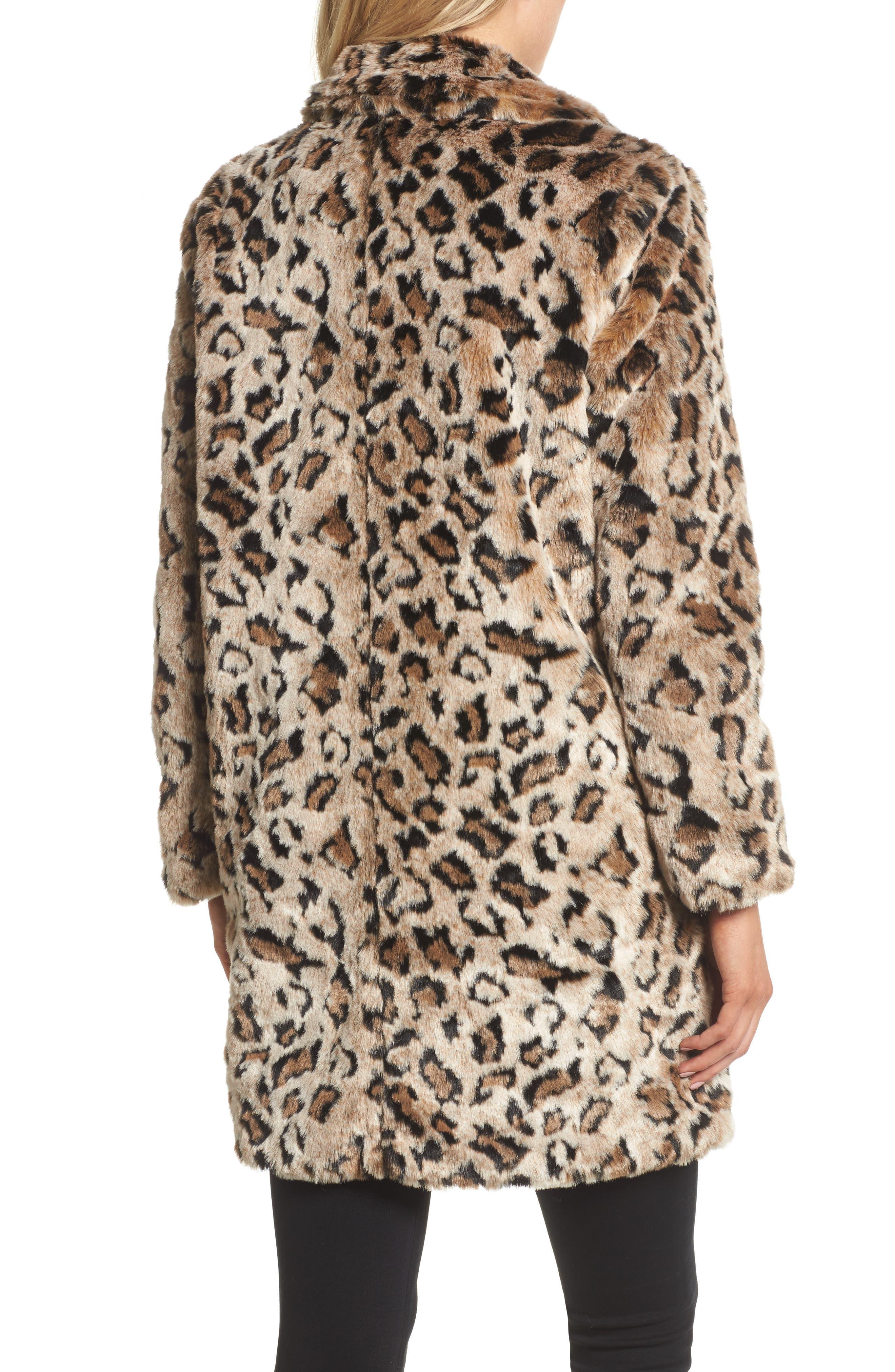 Abeni Faux Fur Coat,                             Alternate thumbnail 2, color,