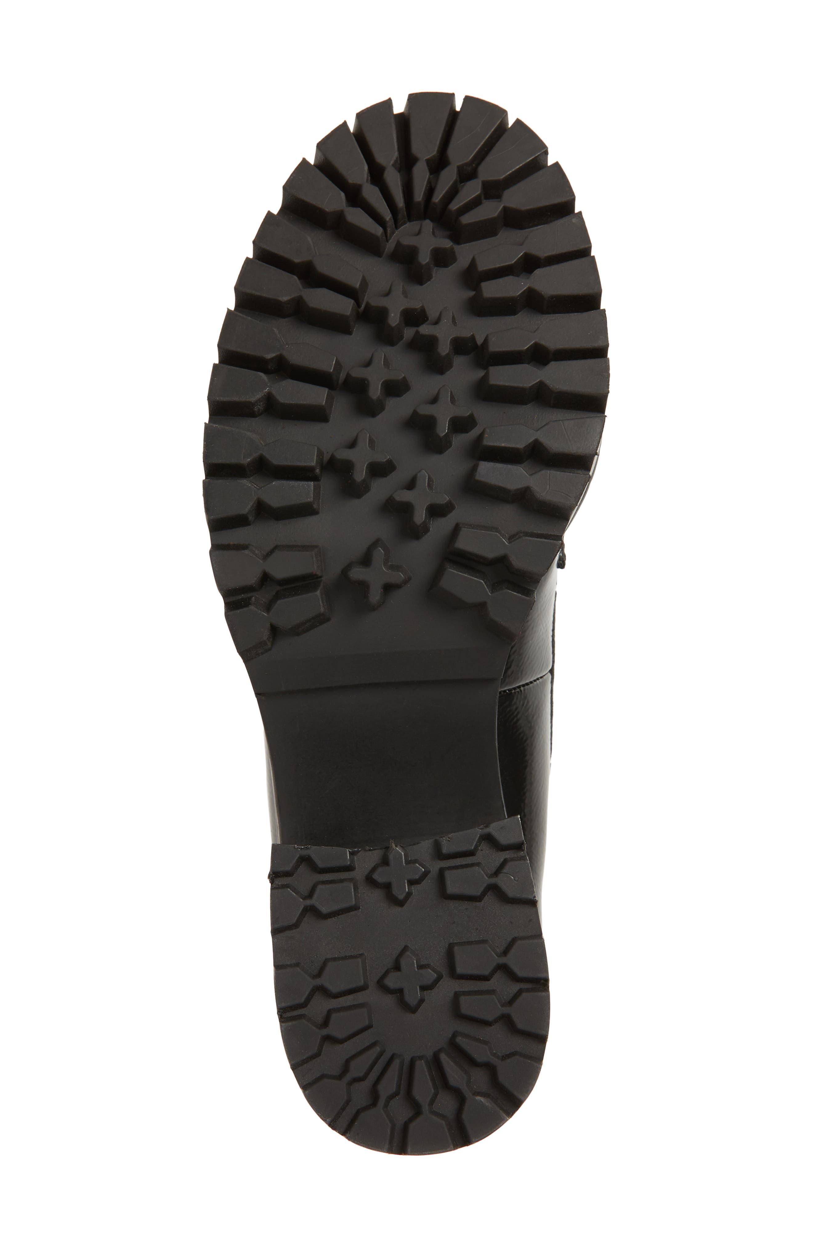 Leighton Platform Loafer,                             Alternate thumbnail 6, color,                             BLACK