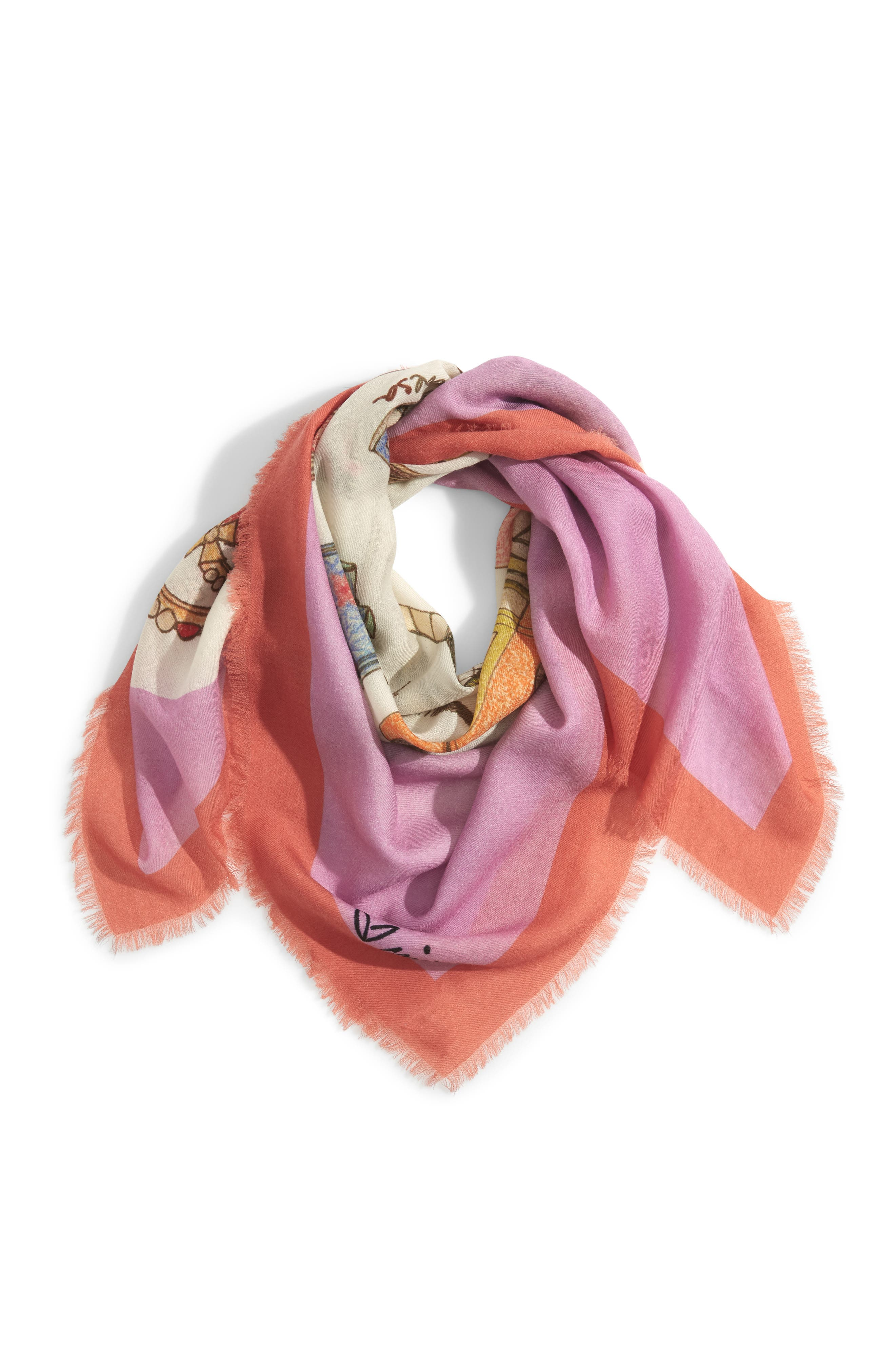 History, She Wrote Wool Scarf,                             Alternate thumbnail 3, color,                             MULTI