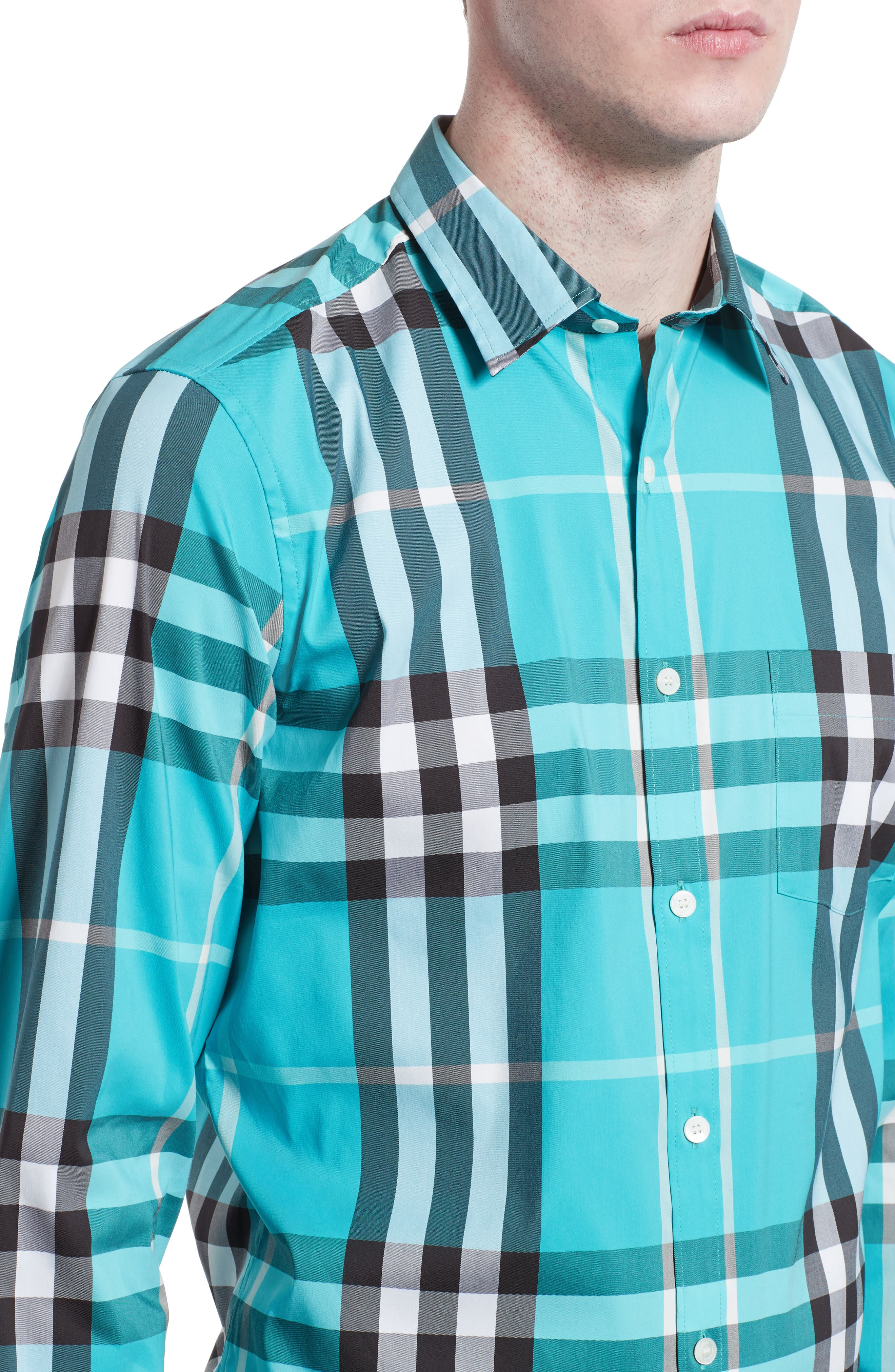 Nelson Check Sport Shirt,                             Alternate thumbnail 83, color,
