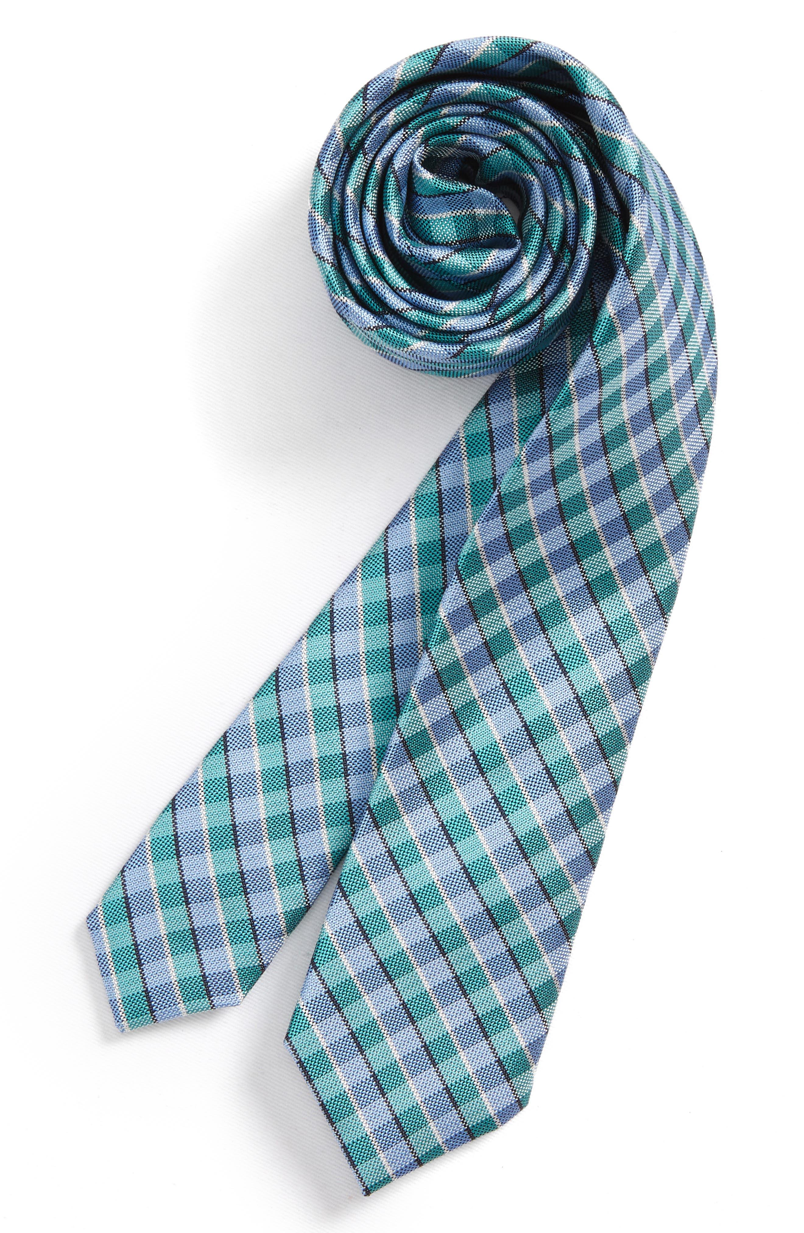 Circus Check Silk Tie,                         Main,                         color, 445