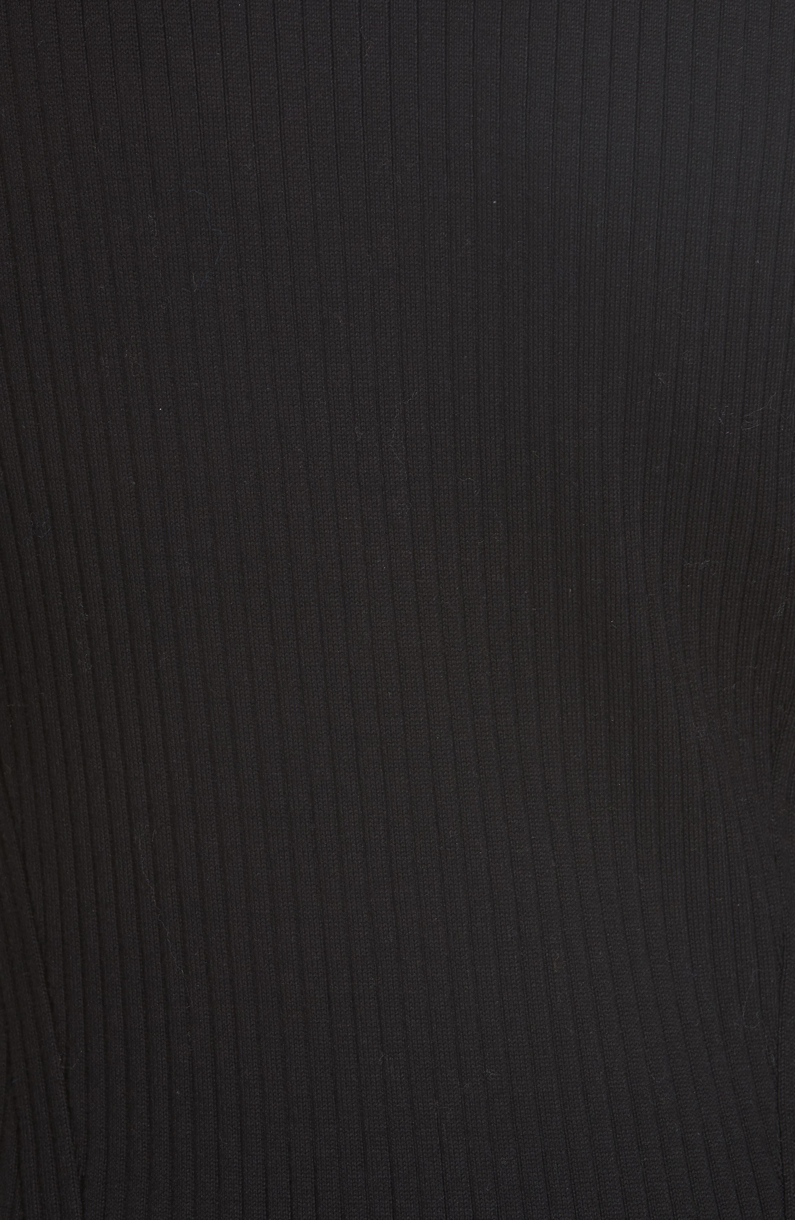 RAG & BONE,                             Brynn Rib Knit Dress,                             Alternate thumbnail 6, color,                             BLACK