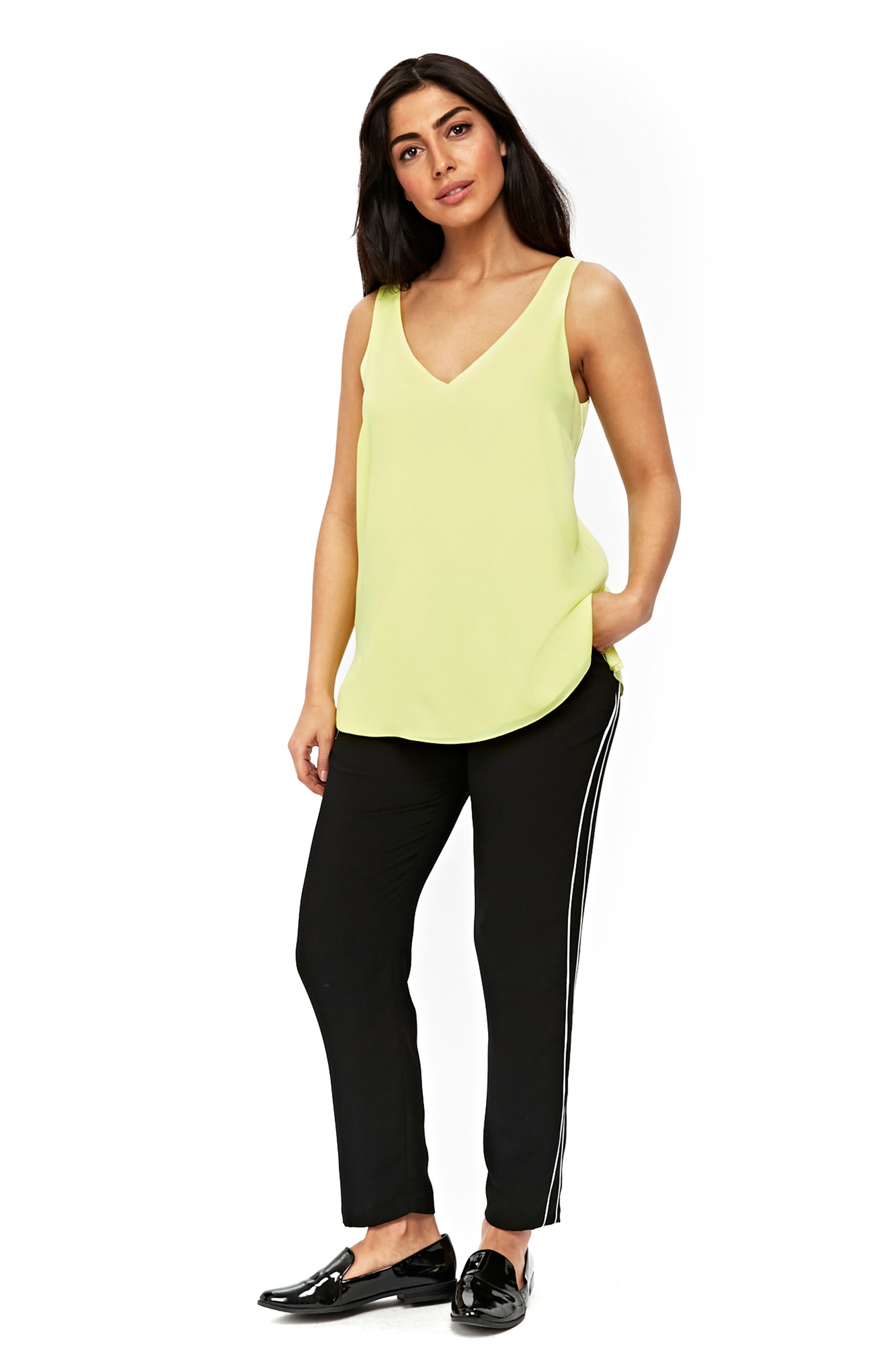 V-neck Camisole Top,                             Alternate thumbnail 5, color,                             LIME