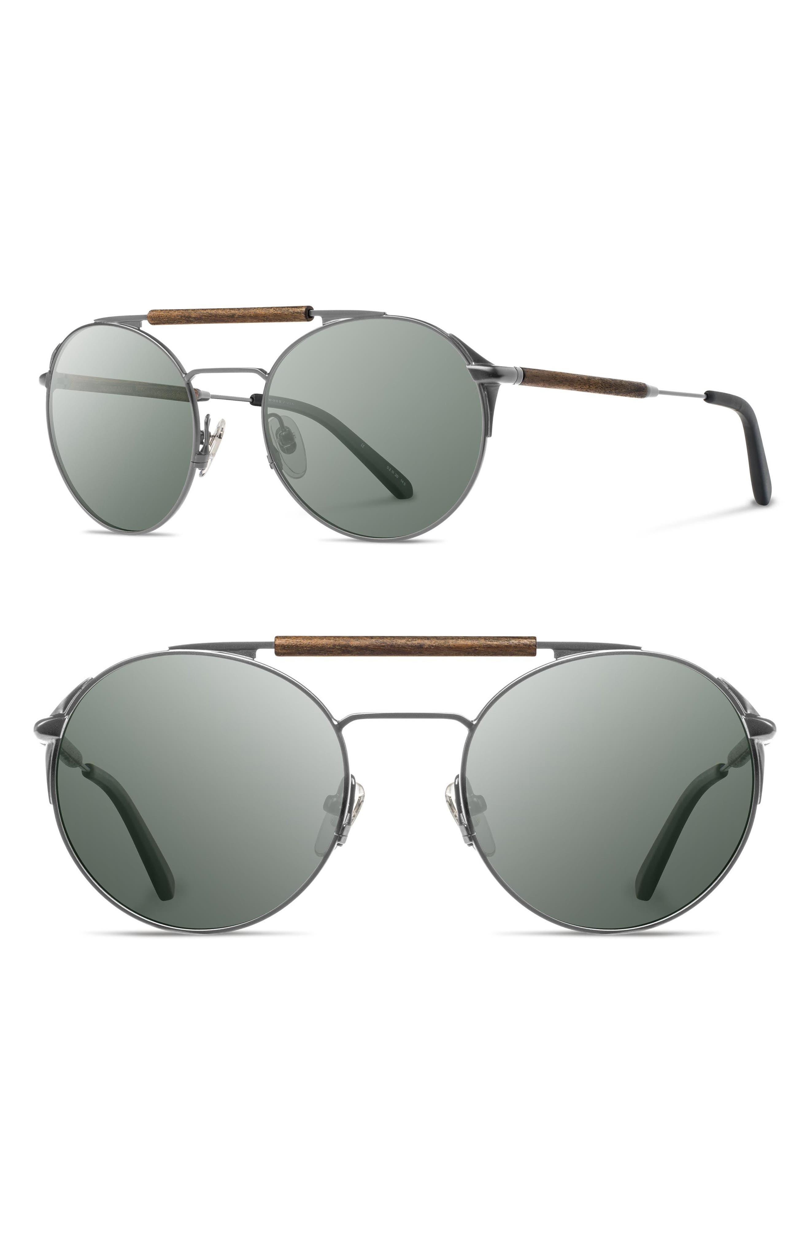 Bandon 52mm Round Sunglasses,                             Main thumbnail 3, color,