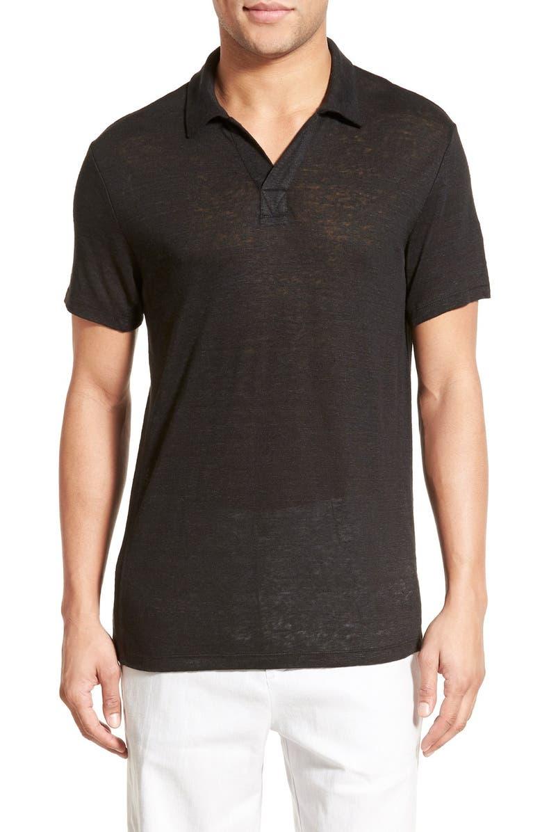 Vince Linen Polo Shirt Nordstrom