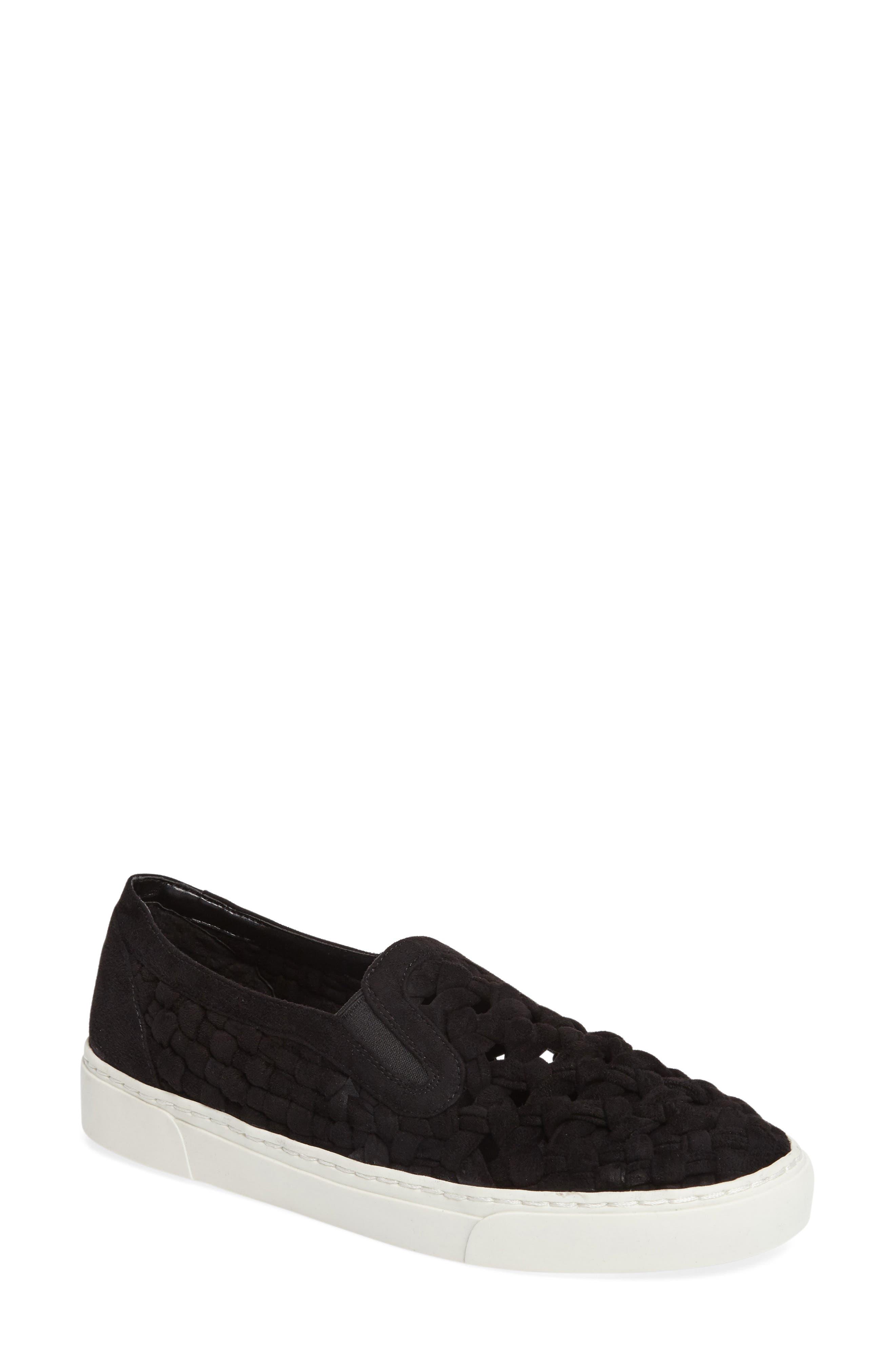 Delphin Braided Slip-On Sneaker,                             Main thumbnail 1, color,                             001