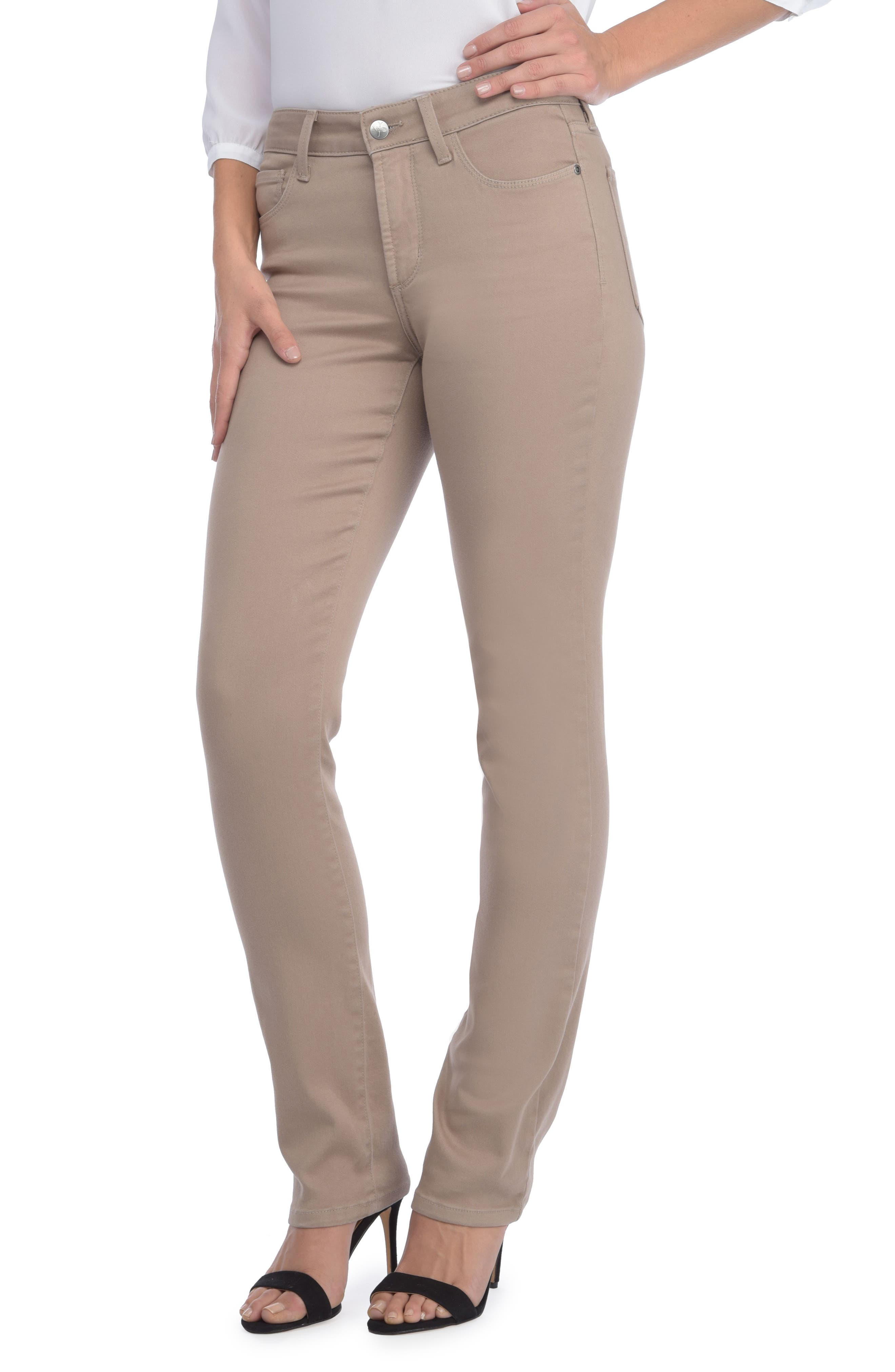 'Sheri' Stretch Twill Slim Leg Pants,                         Main,                         color,