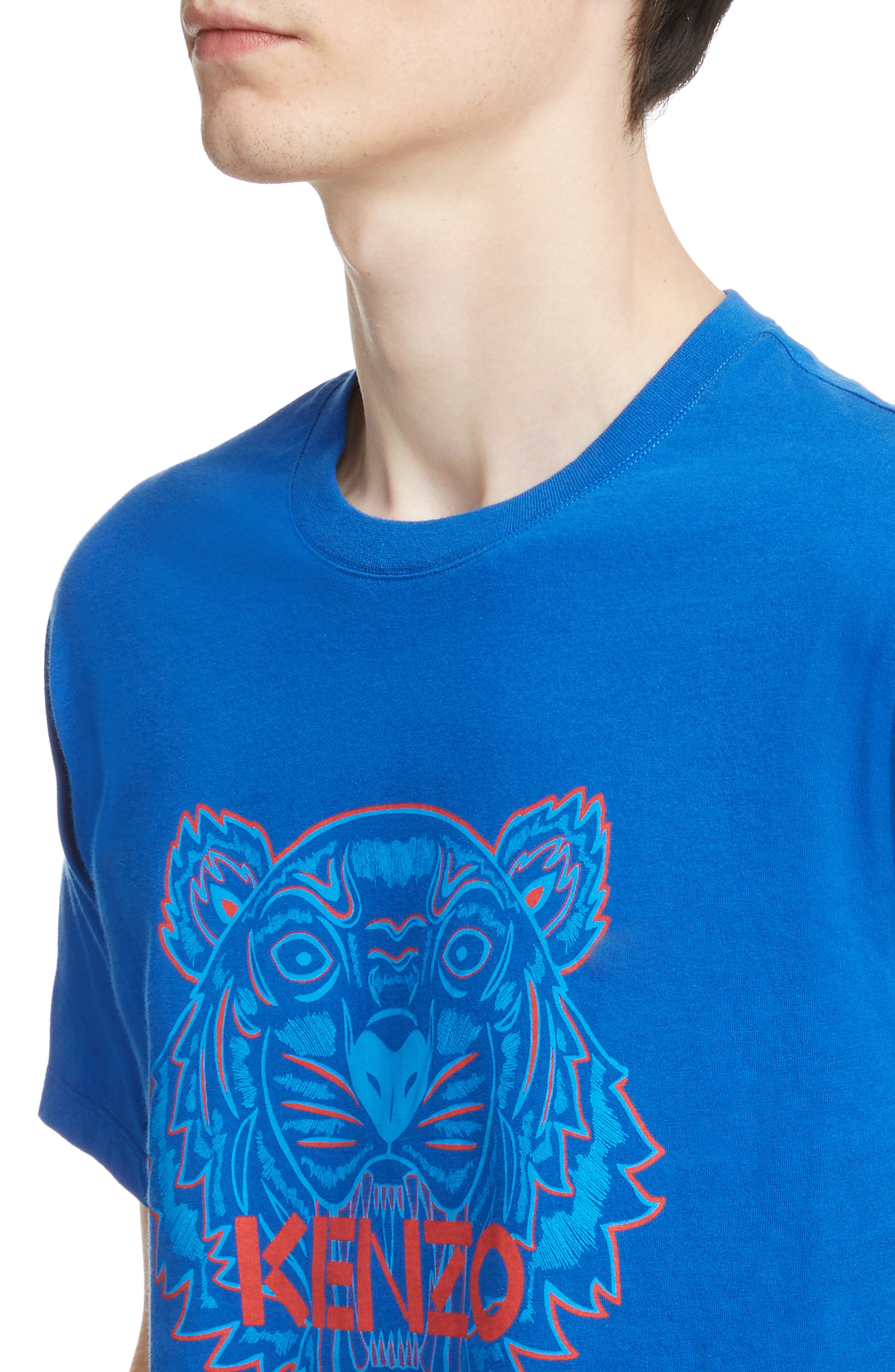 Tiger Graphic T-Shirt,                             Alternate thumbnail 4, color,                             FRENCH BLUE