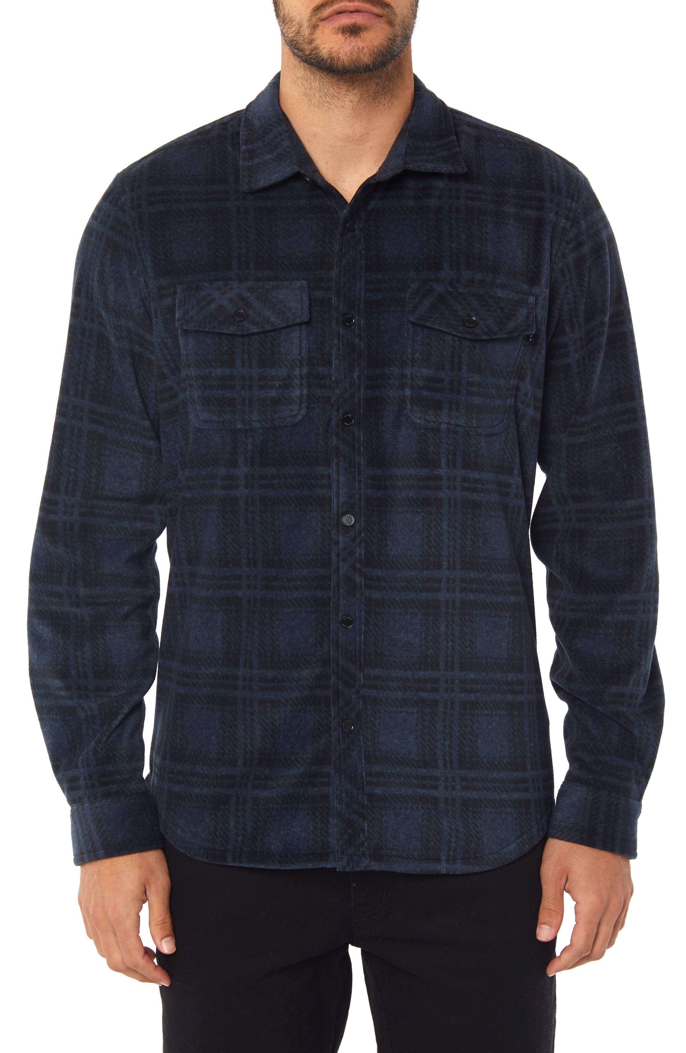 Glacier Ridge Long Sleeve Shirt,                             Main thumbnail 1, color,                             DARK NAVY