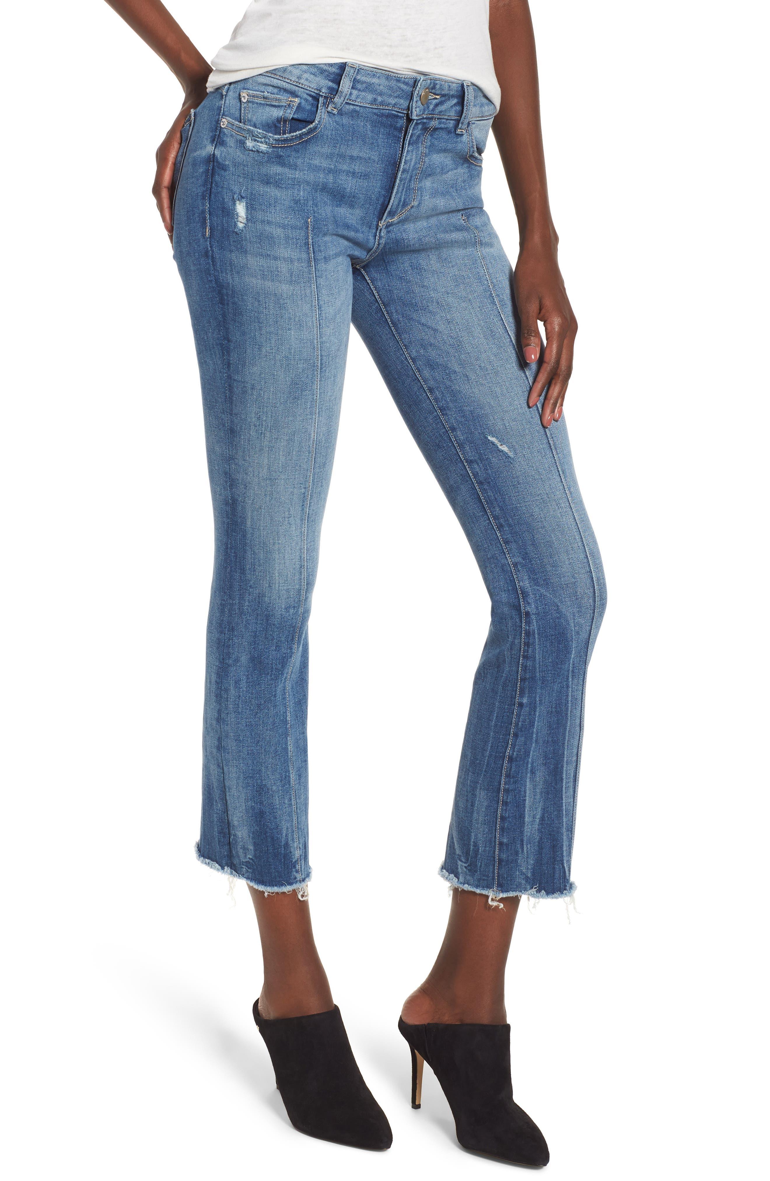 Lara Instasculpt Crop Flare Jeans,                         Main,                         color, DAVIDSON