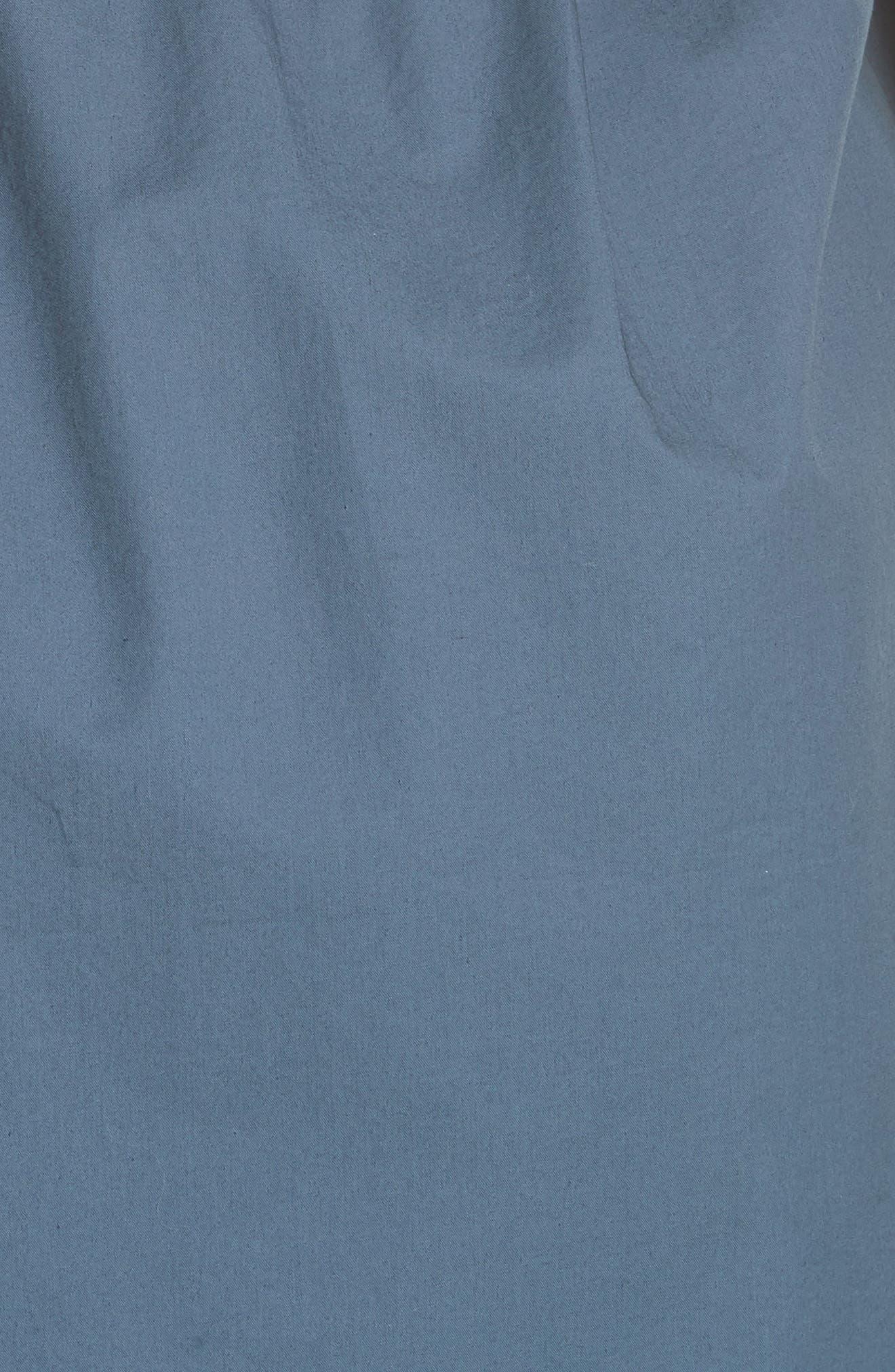Poplin Shirtdress,                             Alternate thumbnail 5, color,                             434