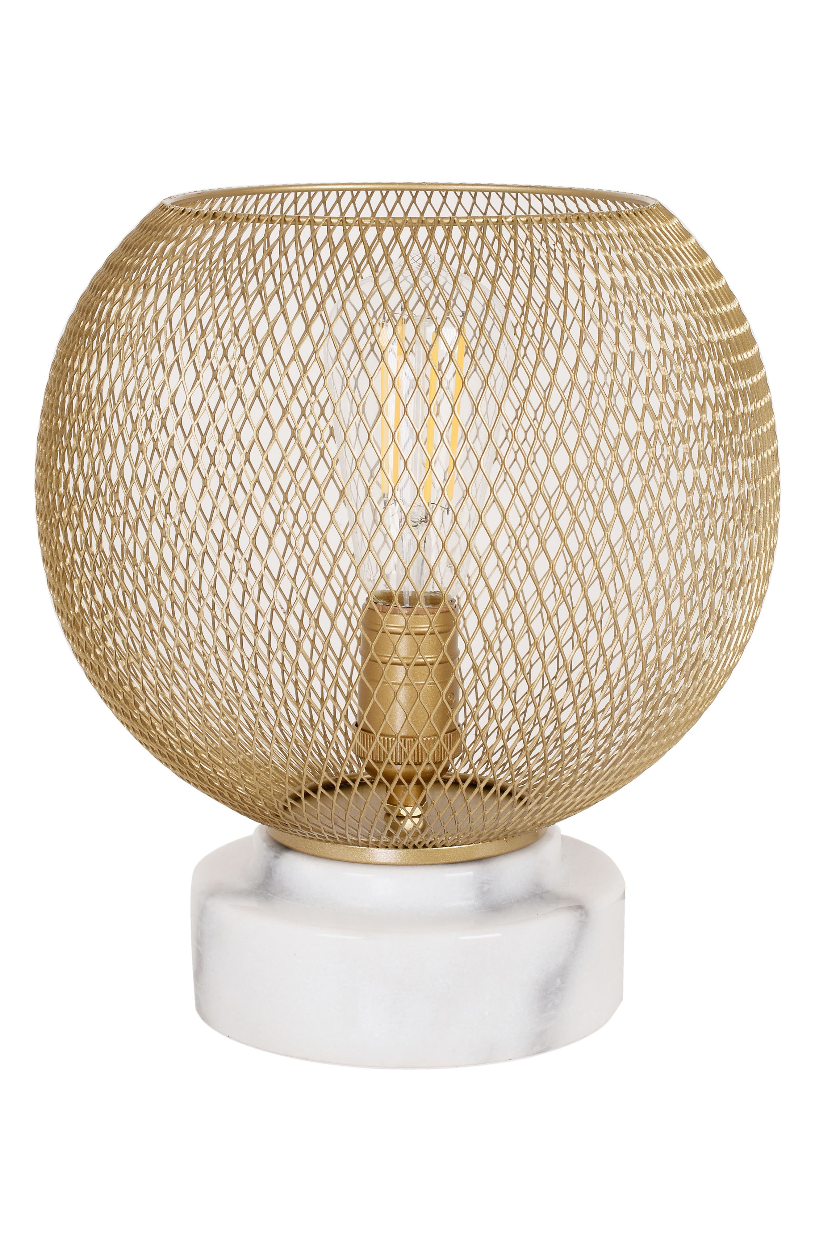 Mesh & Marble Uplight Lamp,                             Main thumbnail 1, color,                             710