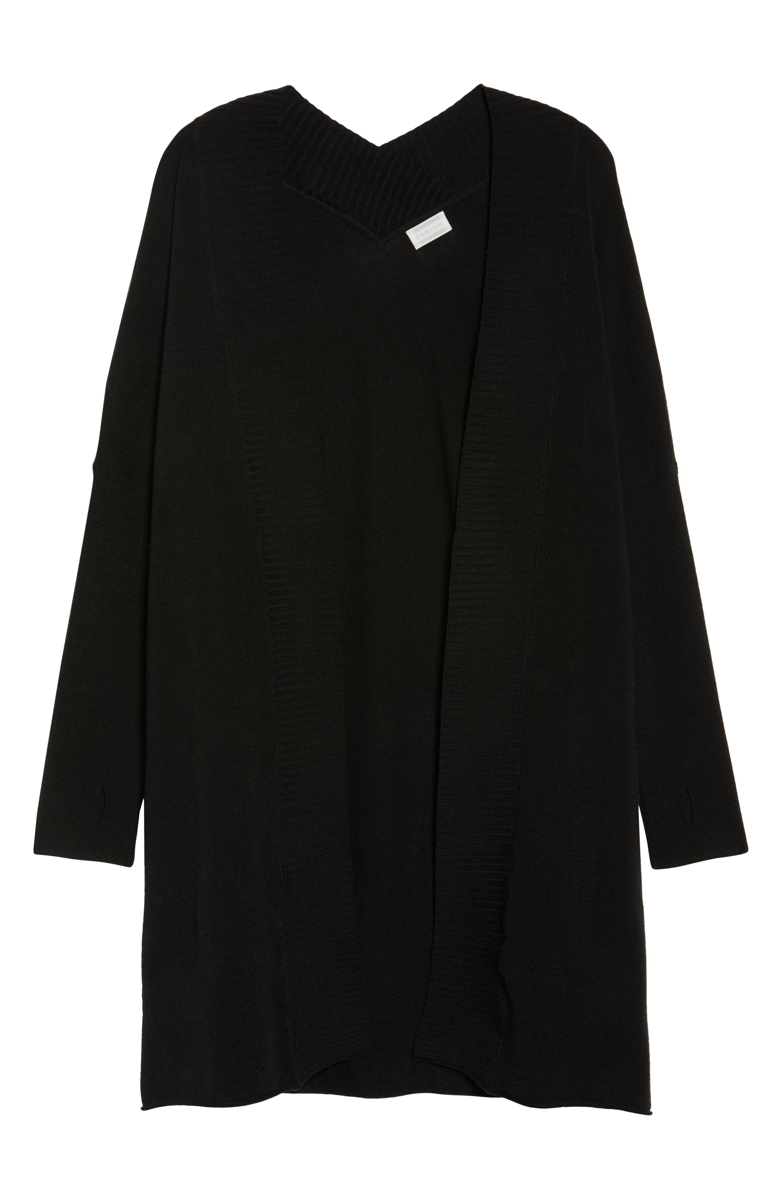Off-Duty Long Open Front Cardigan,                             Alternate thumbnail 16, color,