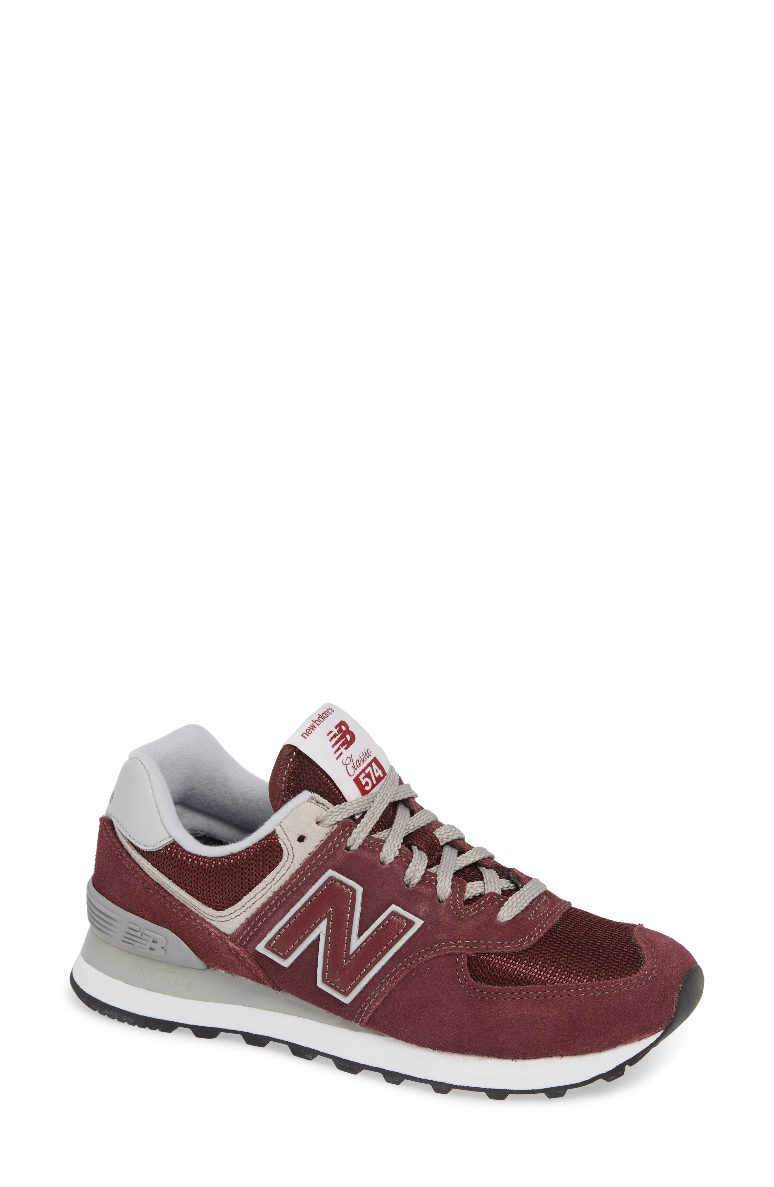 '574' Sneaker,                         Main,                         color, BURGUNDY