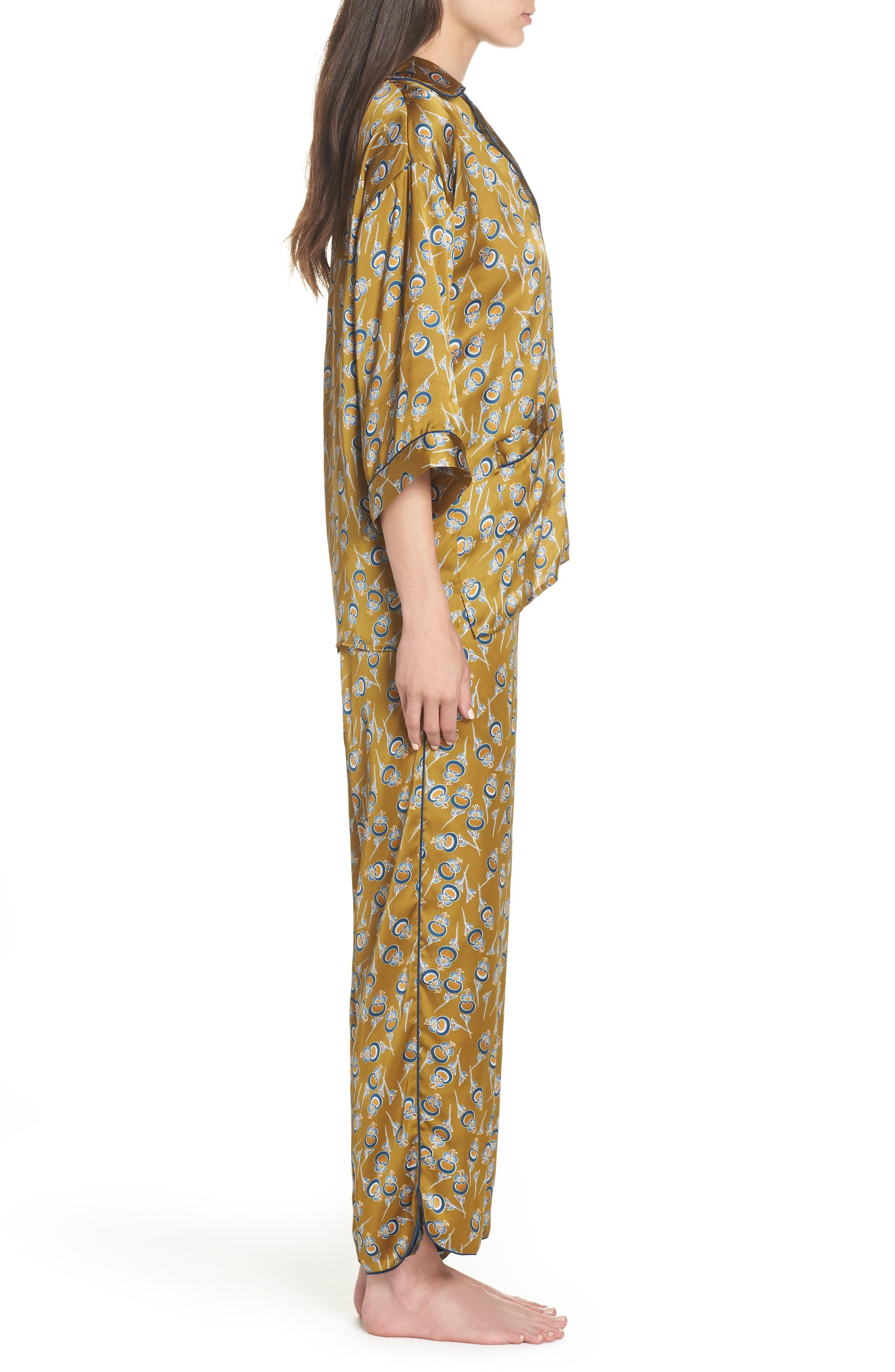 Ella Pajamas,                             Alternate thumbnail 3, color,                             OLIVE ESTATE ORIENTAL BLOOM