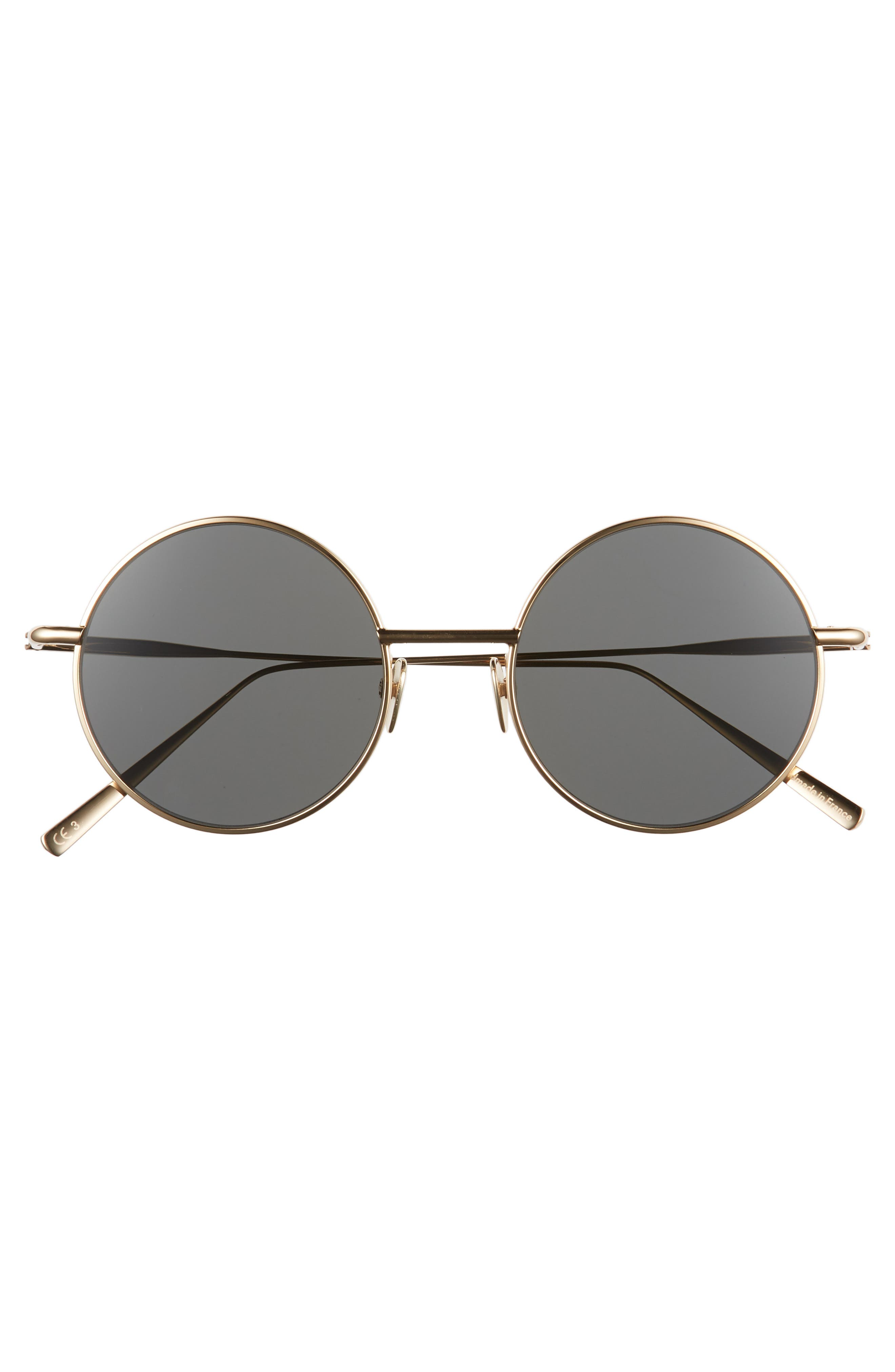 Scientist 50mm Round Sunglasses,                             Alternate thumbnail 3, color,                             001