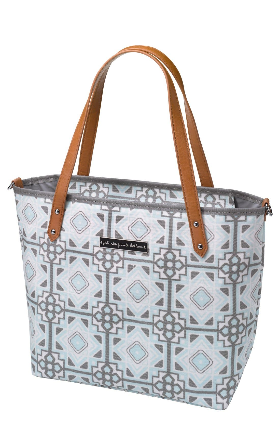 'Downtown Mini' Coated Canvas Diaper Tote,                             Main thumbnail 5, color,