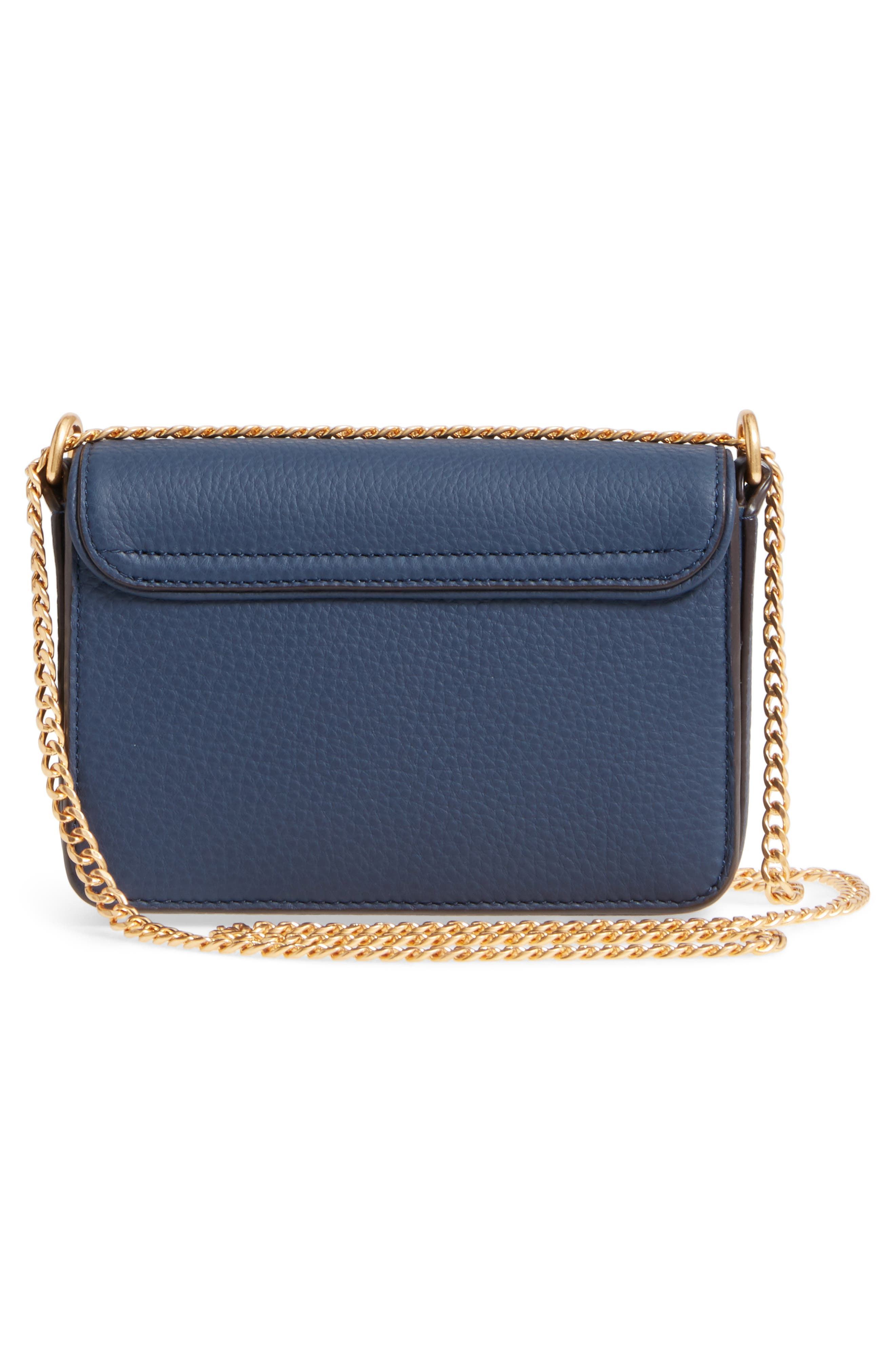 Mini Chelsea Leather Convertible Crossbody Bag,                             Alternate thumbnail 8, color,