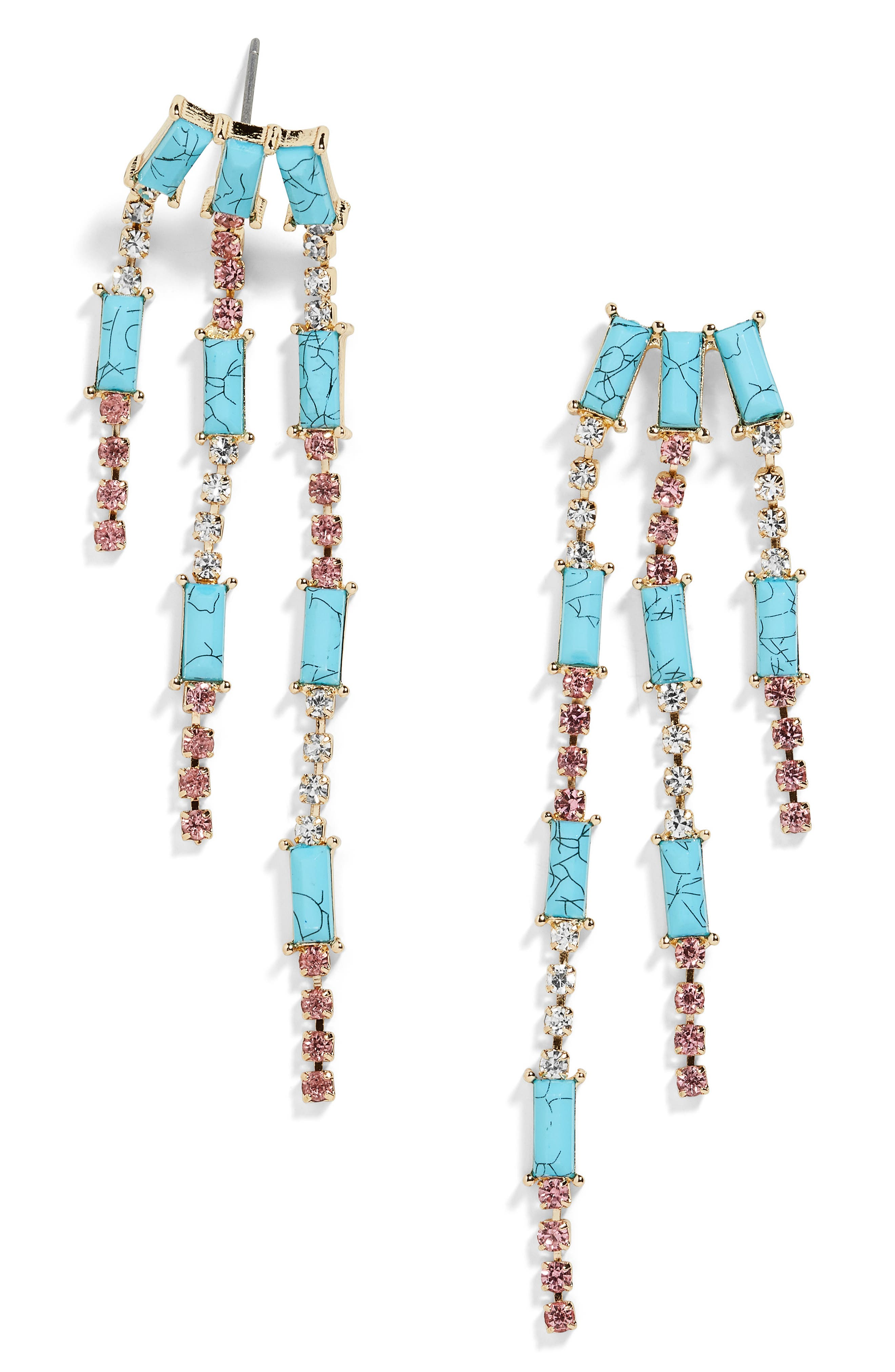 x Micaela Erlanger On the Go Earrings,                             Main thumbnail 1, color,                             TURQUOISE/ GOLD