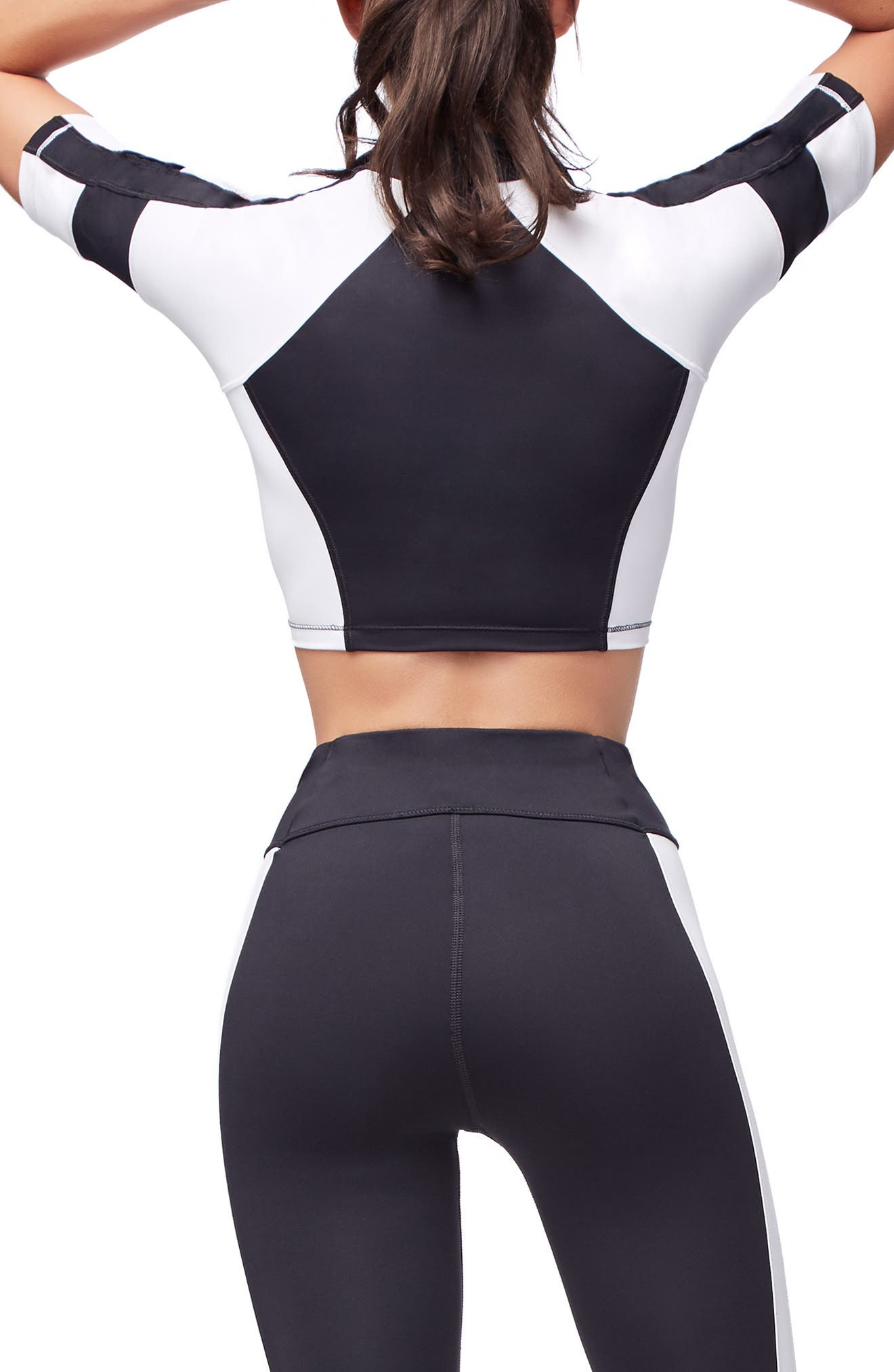 Colorblock Top,                             Alternate thumbnail 3, color,                             BLACK002