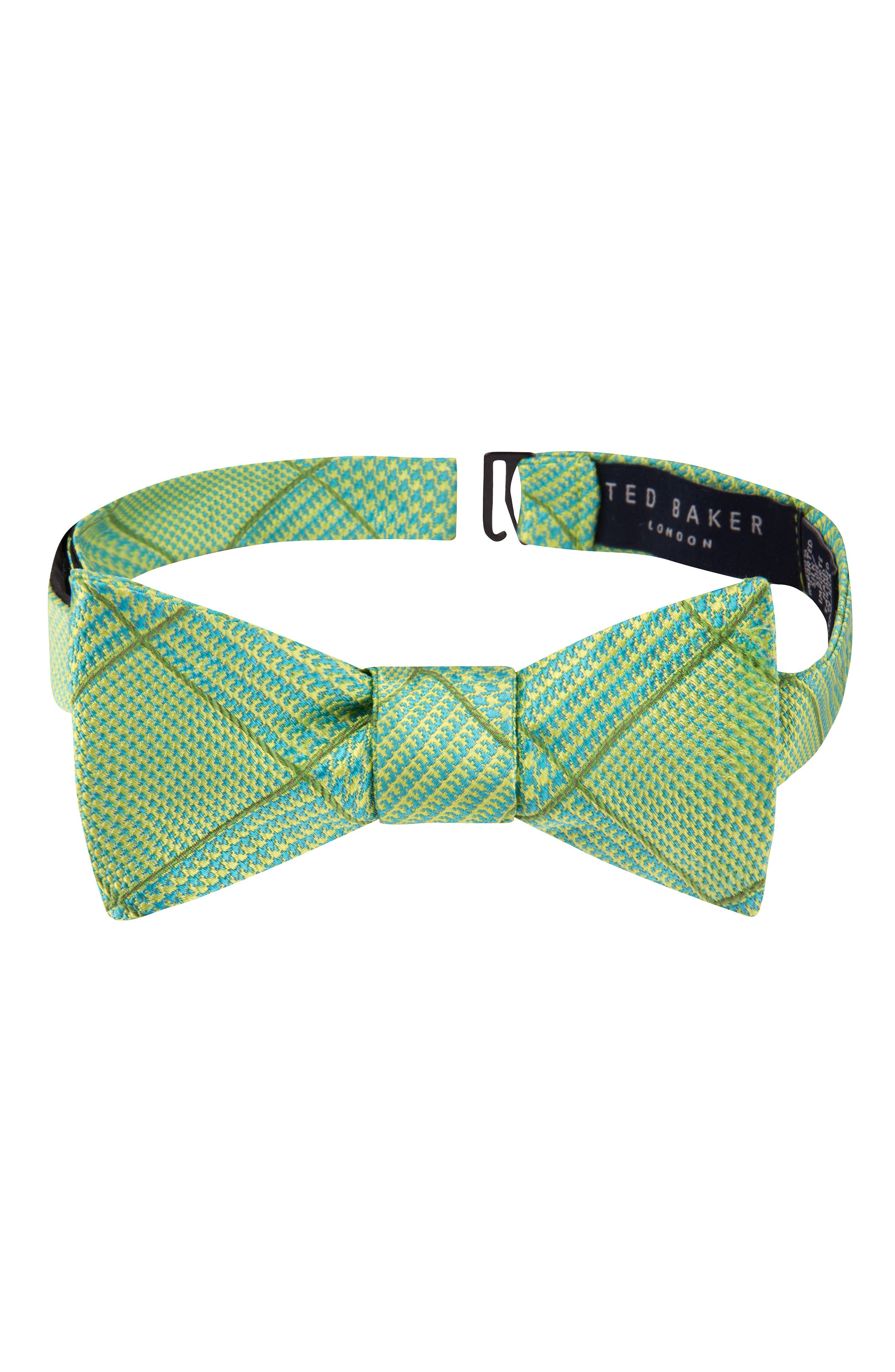 True Grid Check Silk Bow Tie,                         Main,                         color, 300