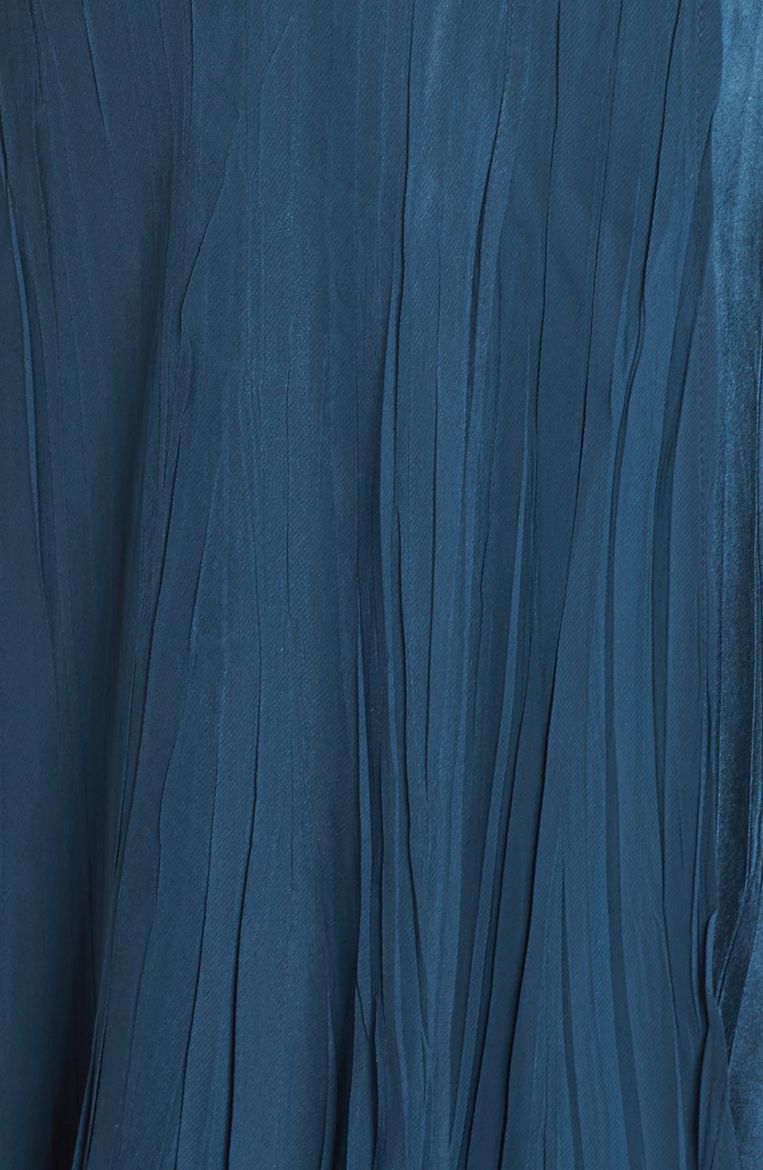 Beaded Neck Chiffon Dress,                             Alternate thumbnail 5, color,                             419