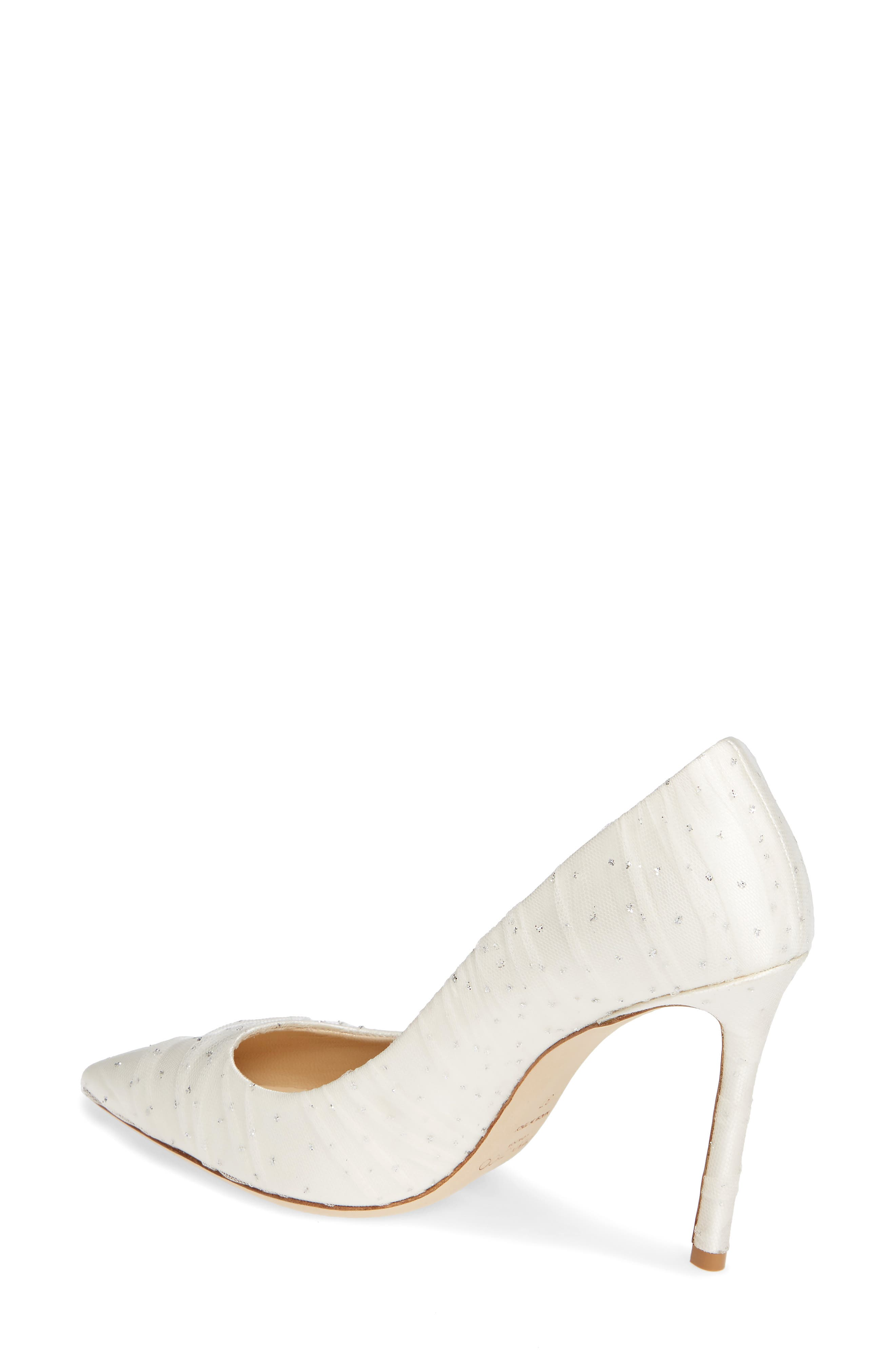 Romy Pointy Toe Pump,                             Alternate thumbnail 2, color,                             WHITE/ SILVER