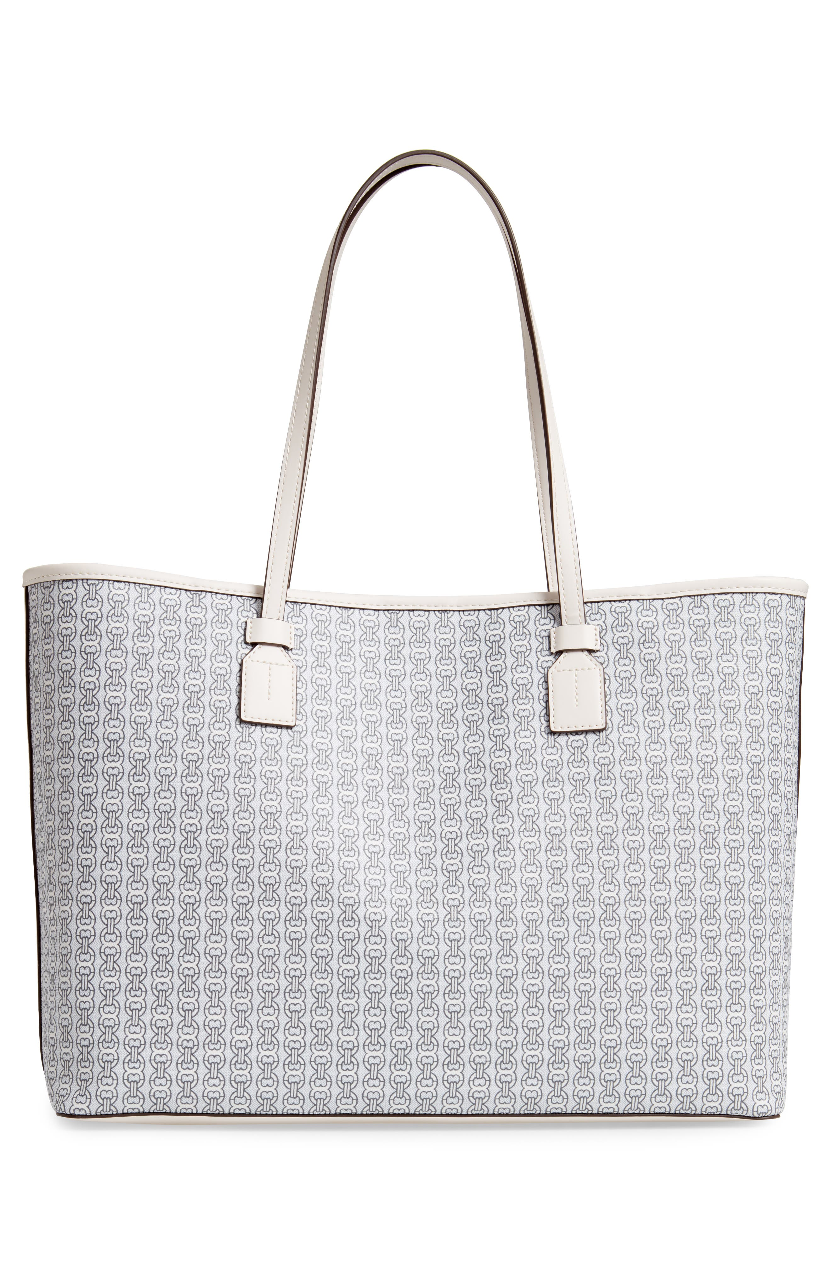 Gemini Link Coated Canvas Tote,                             Alternate thumbnail 3, color,                             NEW IVORY