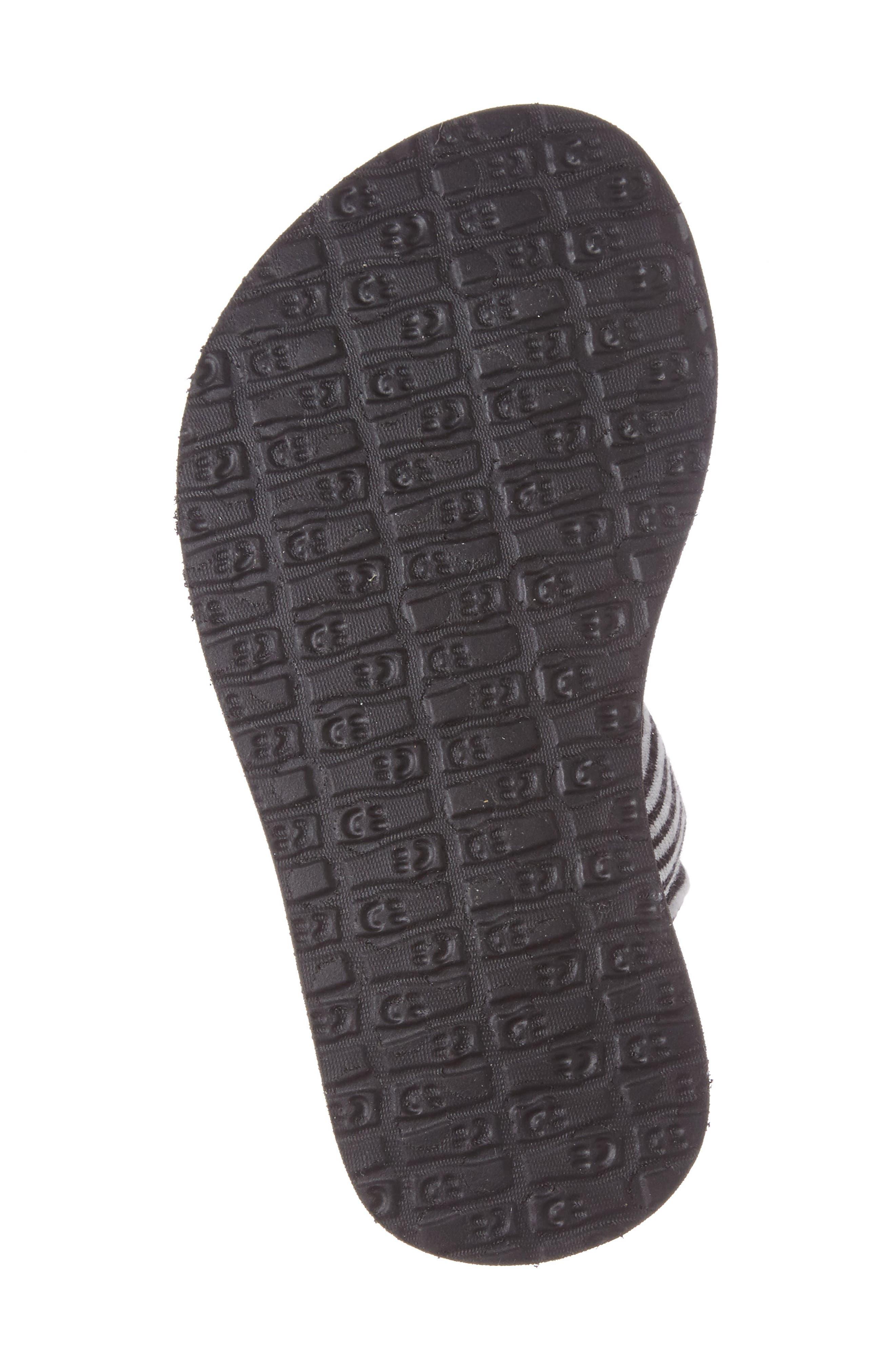 'Yoga Sling' Sandal,                             Alternate thumbnail 4, color,                             BLACK/ WHITE STRIPE