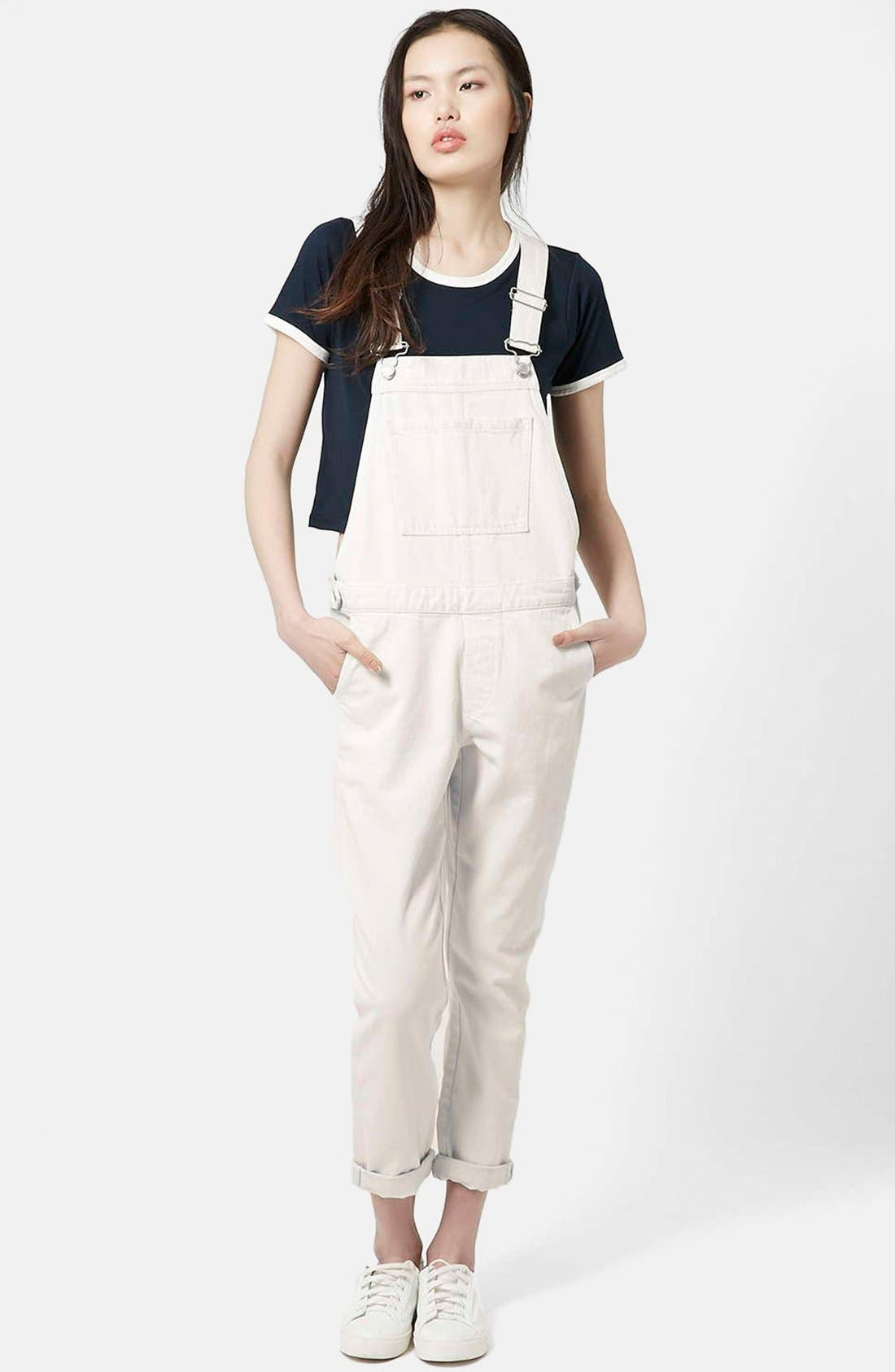 Moto Straight Leg Overalls,                             Main thumbnail 1, color,                             900