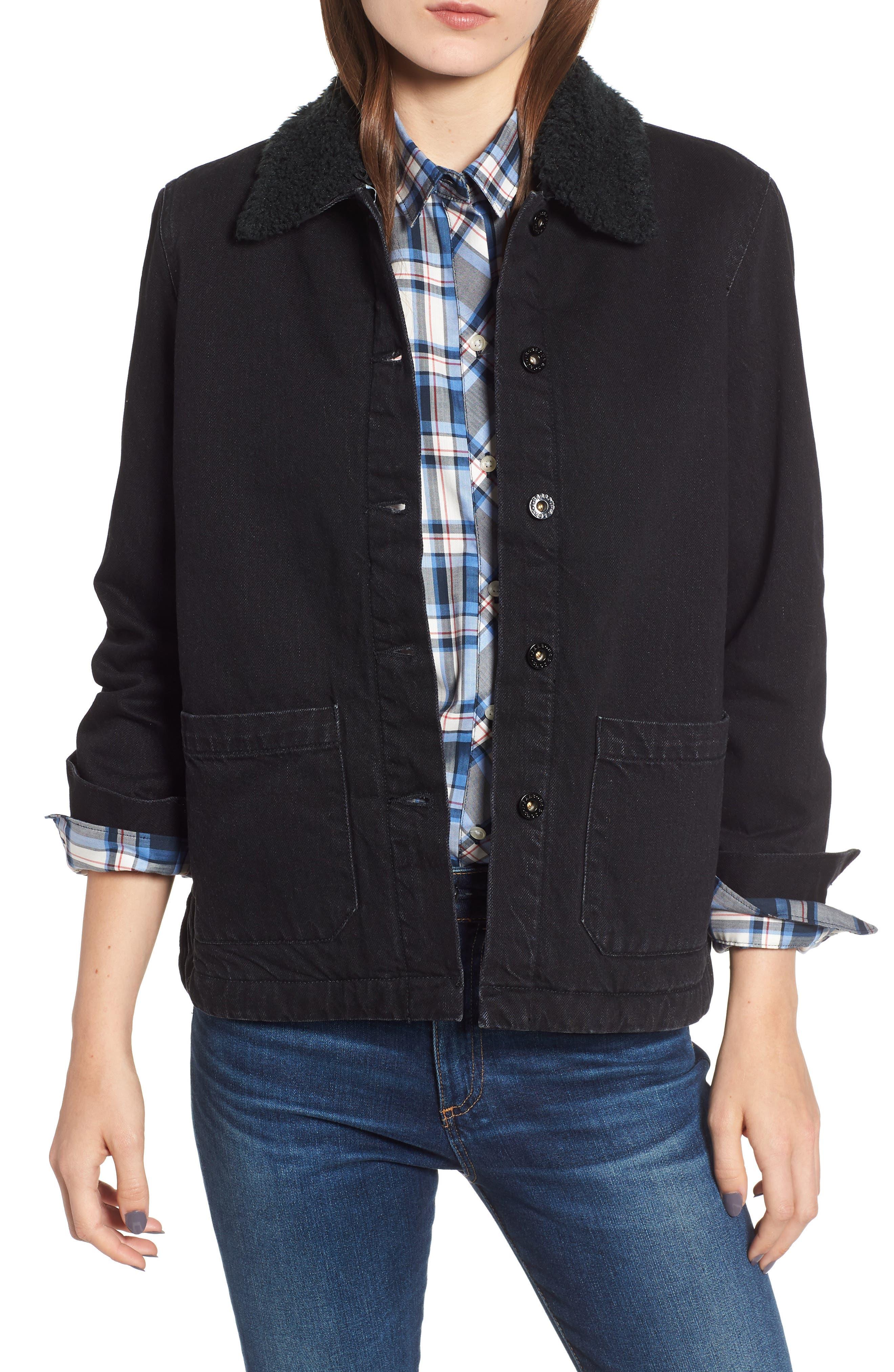 Barbour Patsy Shirt Jacket, US / 16 UK - Black