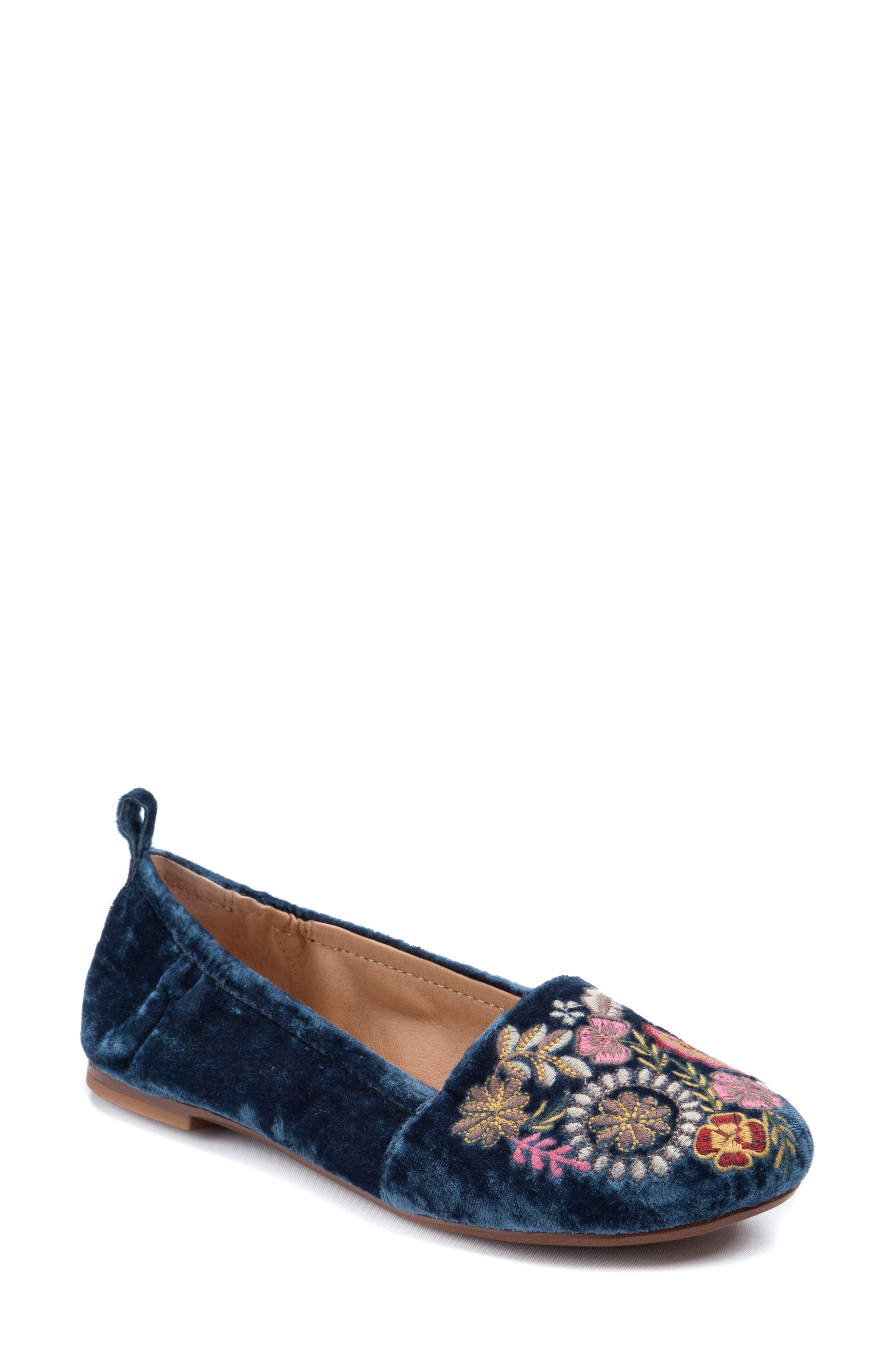 Gayla Floral Embroidered Flat,                         Main,                         color,