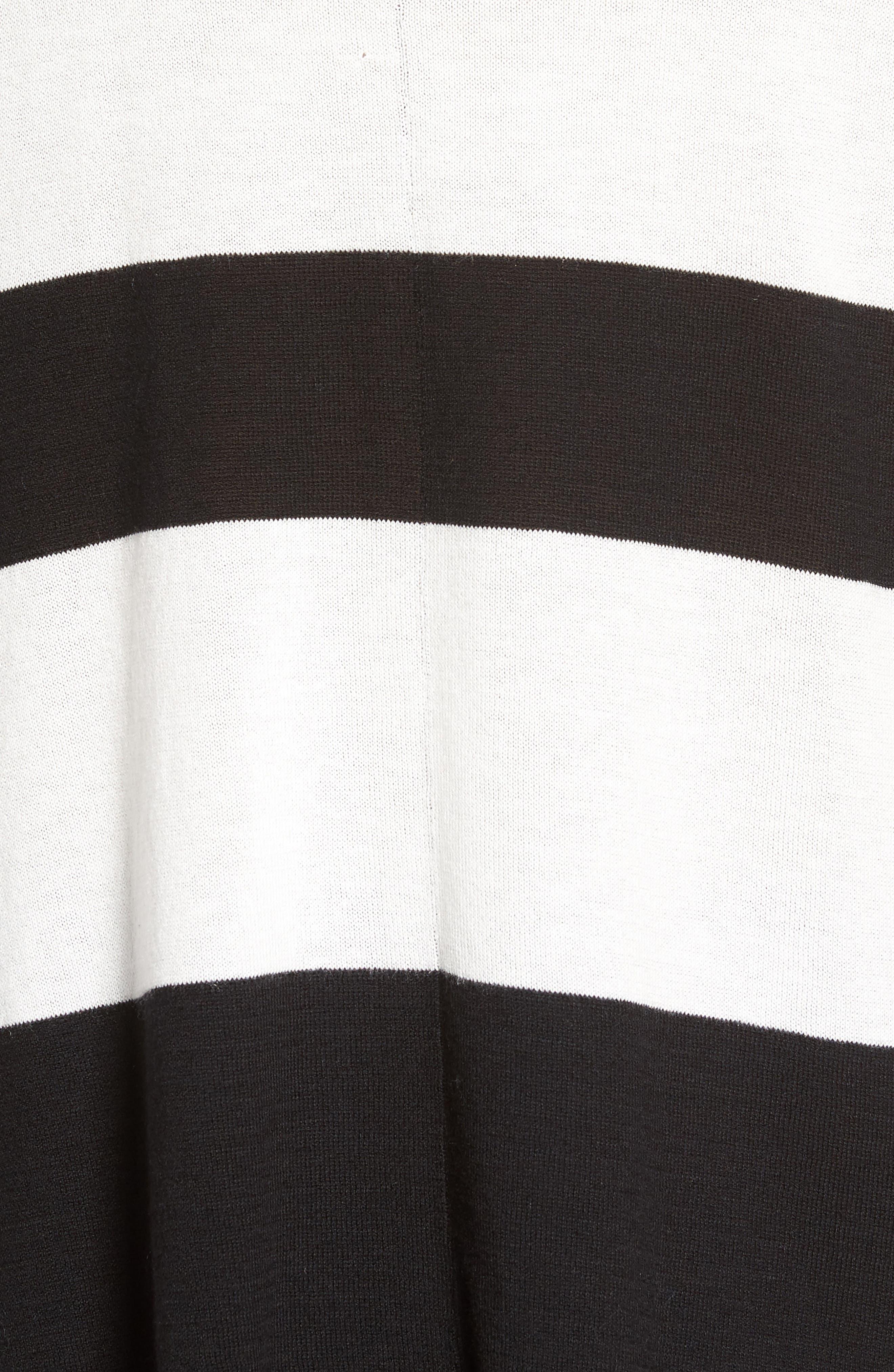 Wide Stripe Turtleneck Sweater,                             Alternate thumbnail 5, color,                             001