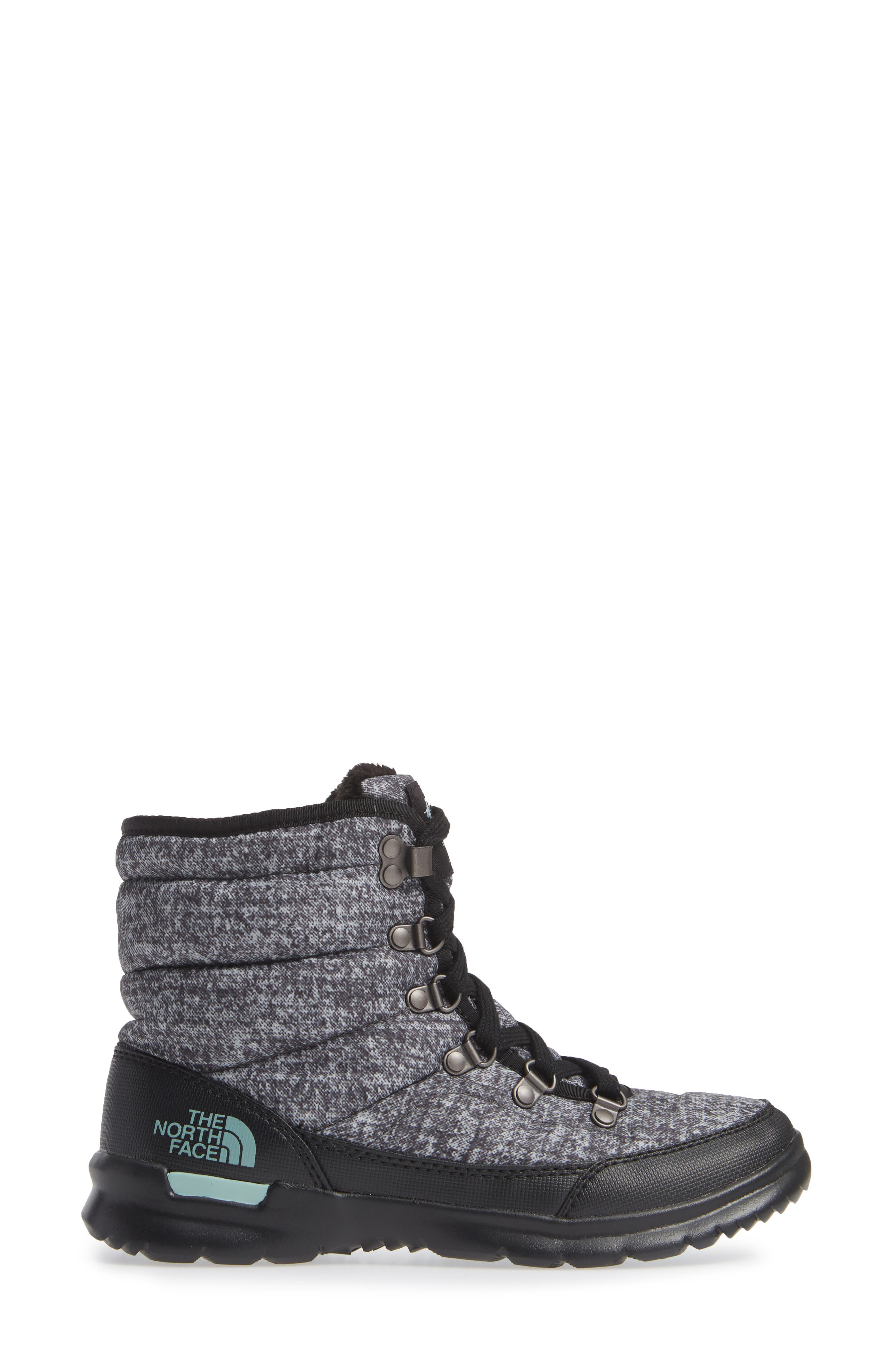 Lace II ThermoBall<sup>™</sup> Insulated Winter Boot,                             Alternate thumbnail 3, color,                             HOUNDS TOOTH PRINT/ BLUE HAZE