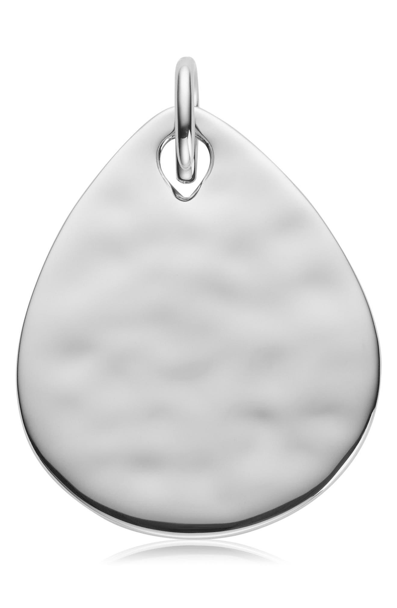 Engravable Ziggy Pendant Charm,                         Main,                         color, SILVER