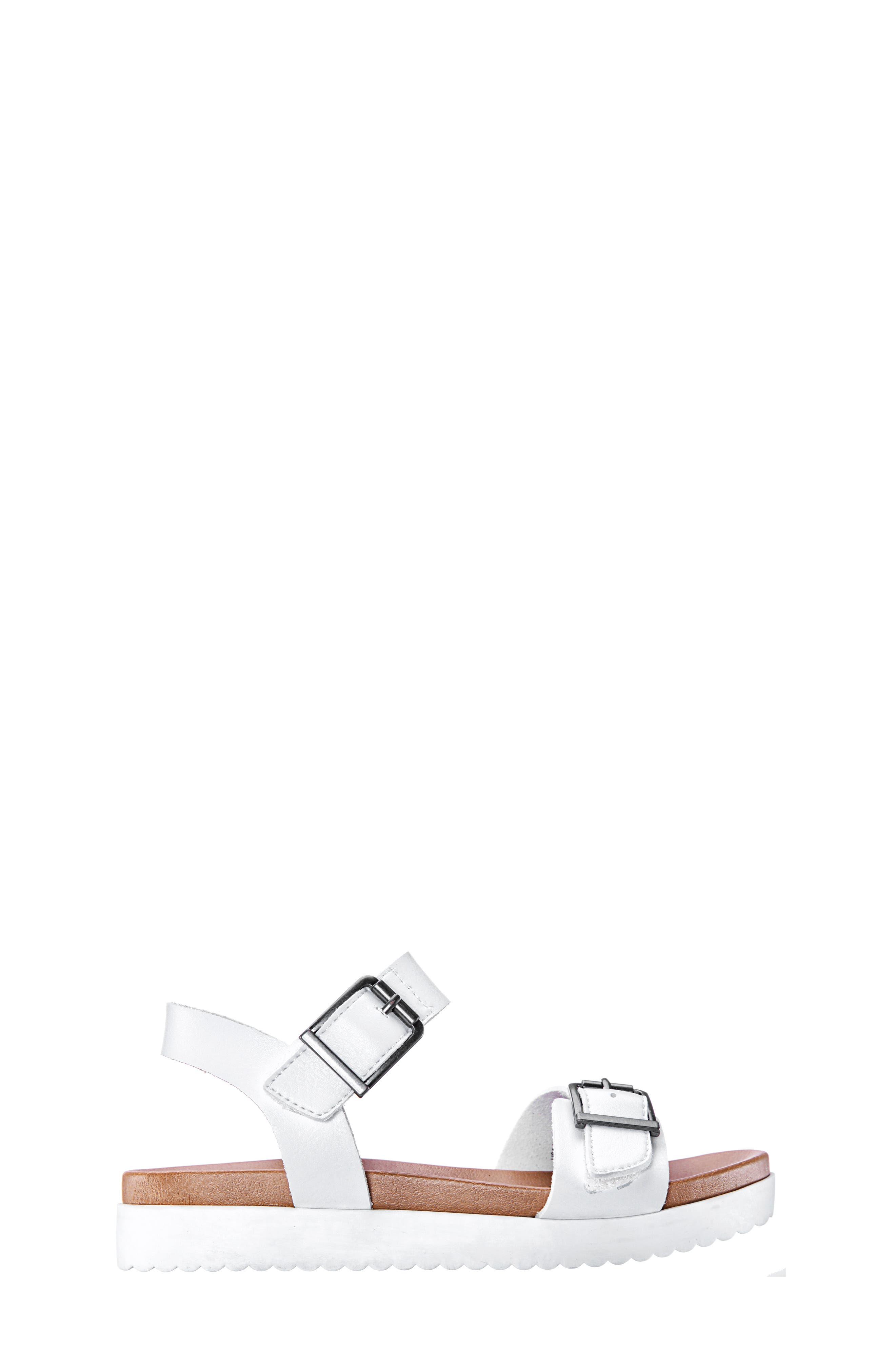 NINA,                             Jacklin3 Quarter Strap Sandal,                             Alternate thumbnail 3, color,                             WHITE TUMBLE