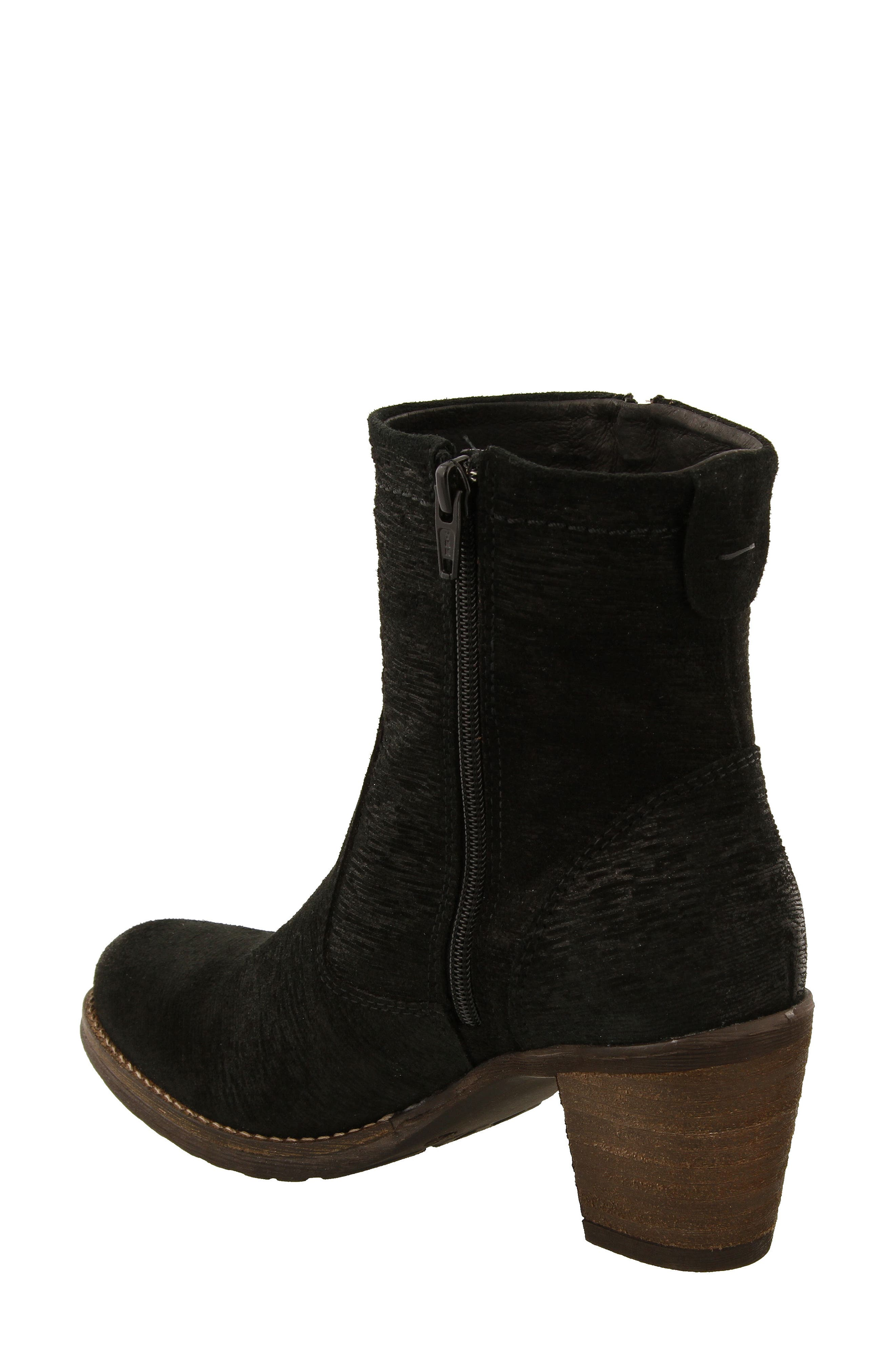 Shaka 2 Embossed Faux Fur Lined Bootie,                             Alternate thumbnail 2, color,                             BLACK EMBOSS SUEDE