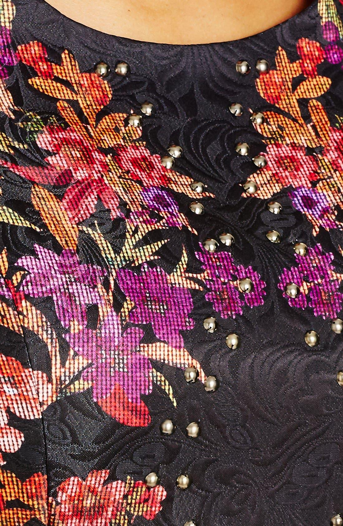 'Femme Royale' Fit & Flare Dress,                             Alternate thumbnail 7, color,